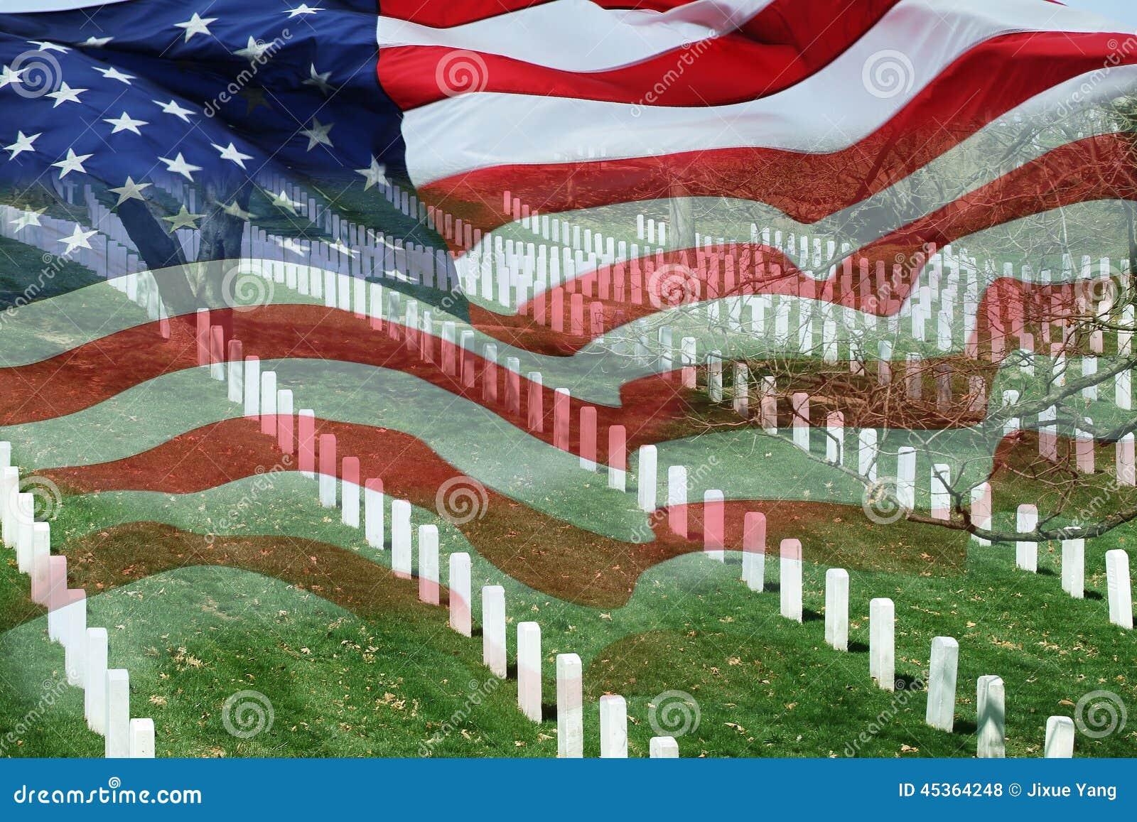 Cimetière et drapeau