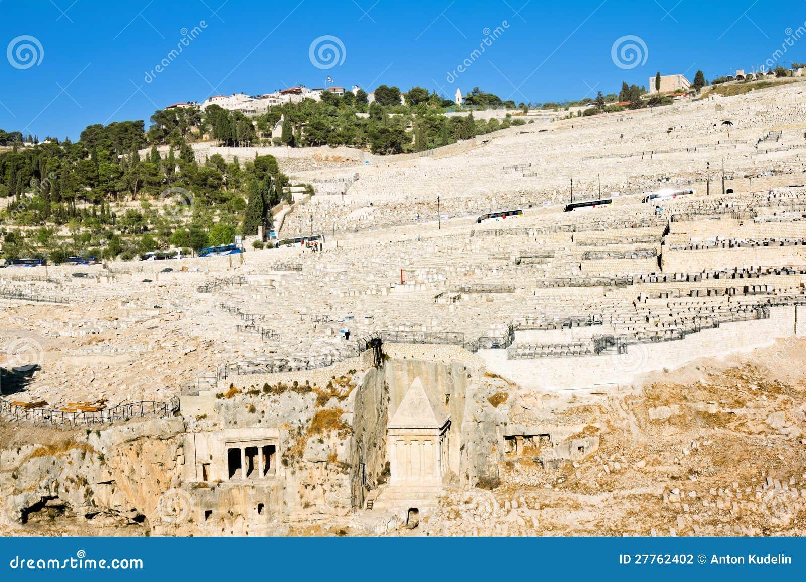 Cimetière juif antique sur le support des olives