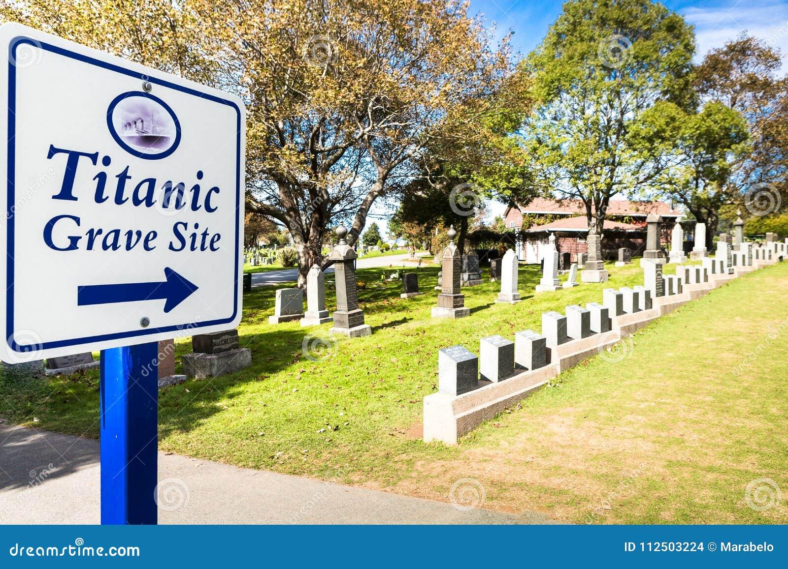 Cimetière titanique Endroit dans la ville de Halifax dans le Canada où t