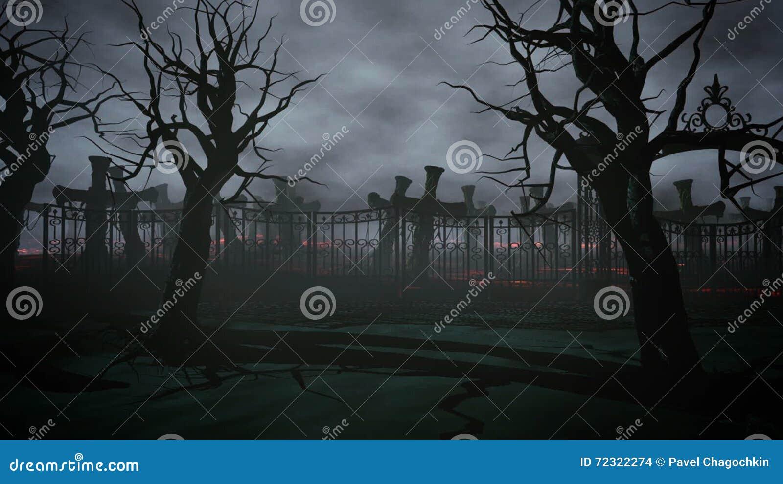 LA BRUTTA NOTTE DI ROSS O'HARA Cimitero-di-notte-di-orrore-tomba-luce-della-luna-concetto-di-halloween-animazione-d-72322274