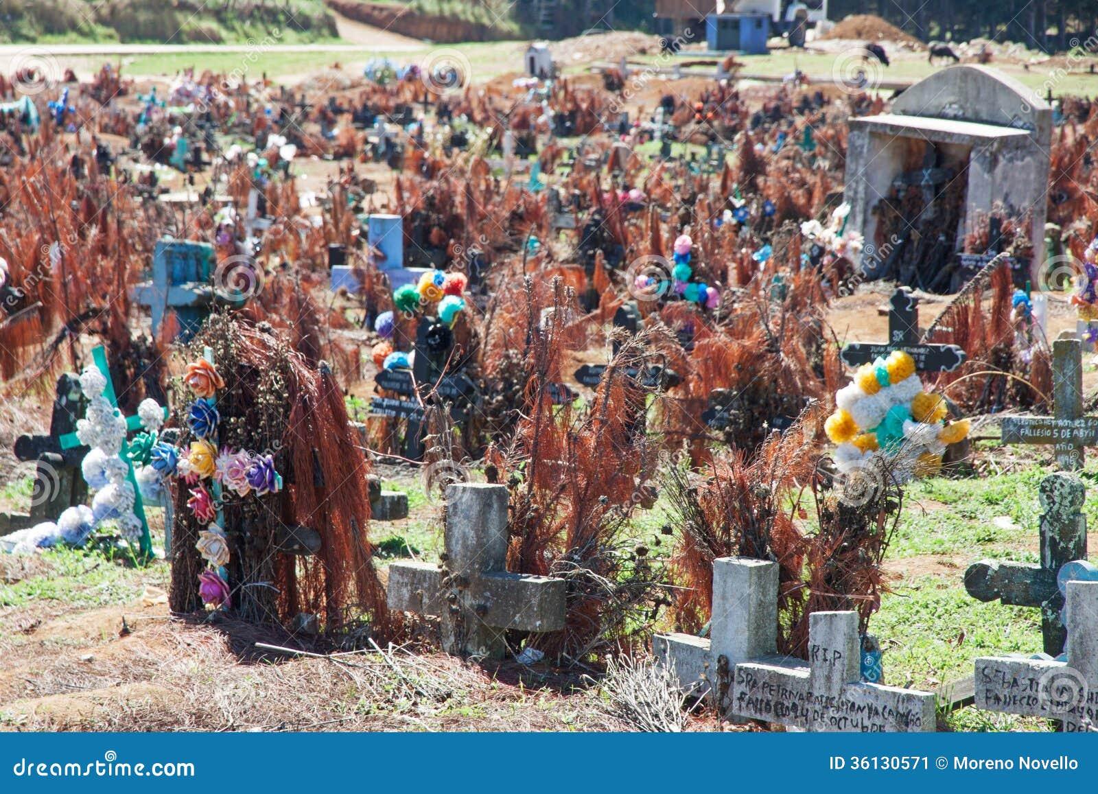 Cimitero di San Juan Chamula, il Chiapas, Messico