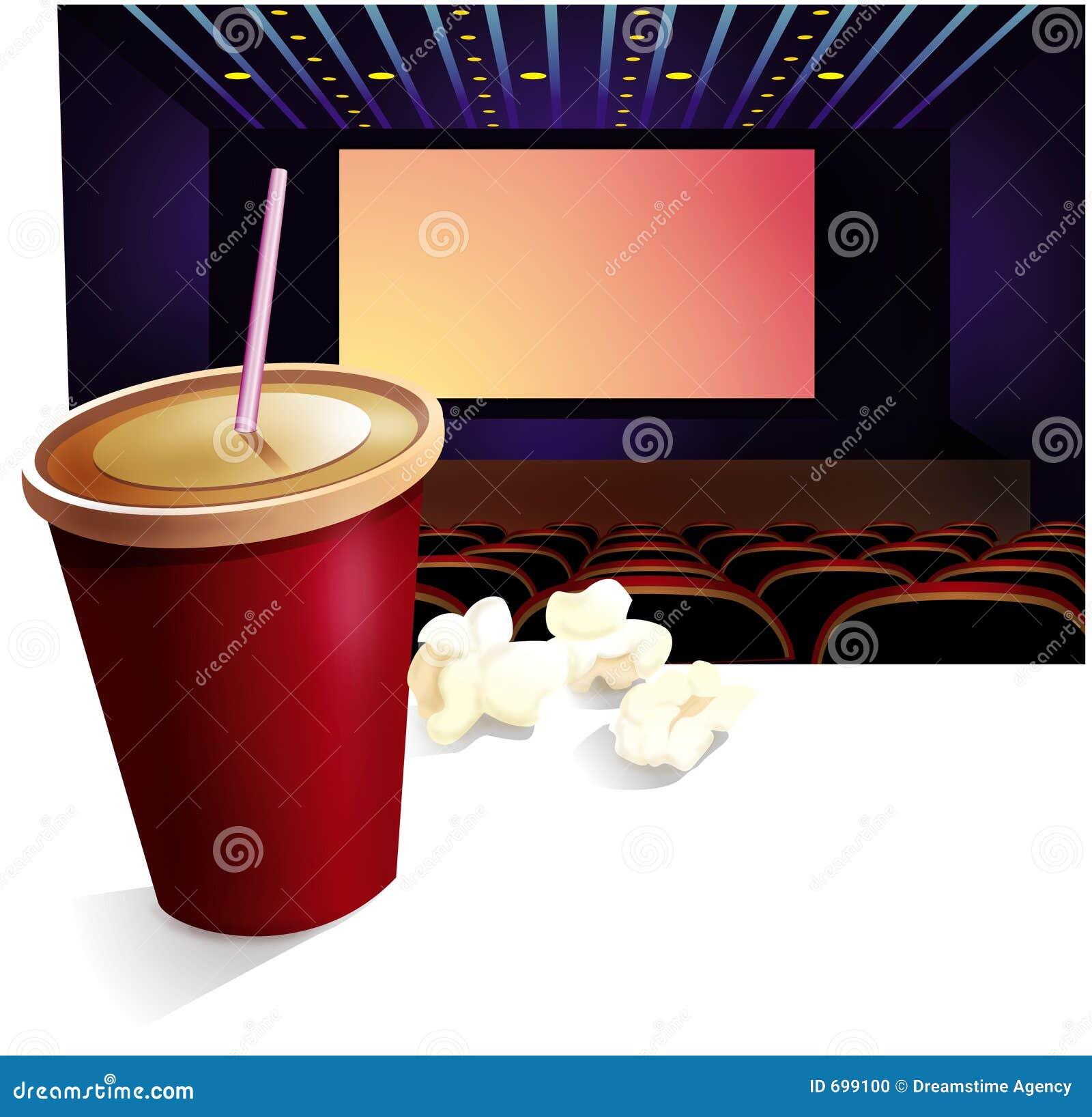 Cinéma, boisson, maïs éclaté