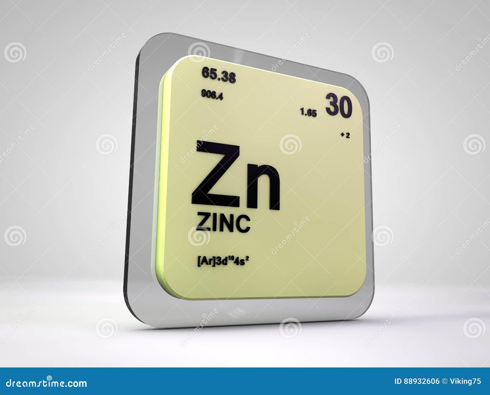 Cinc zn tabla peridica del elemento qumico stock de cinc zn tabla peridica del elemento qumico urtaz Images