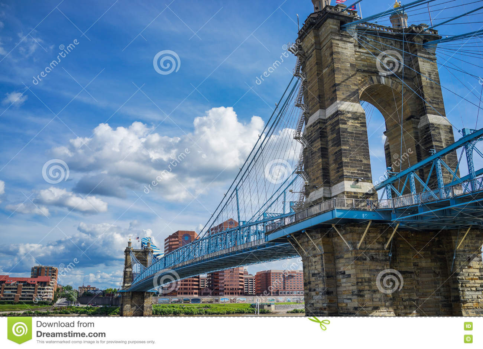 Cincinnati na most John Ohio roebling zawieszenie Roebling zawieszenia most, Cincinnati, Ohio