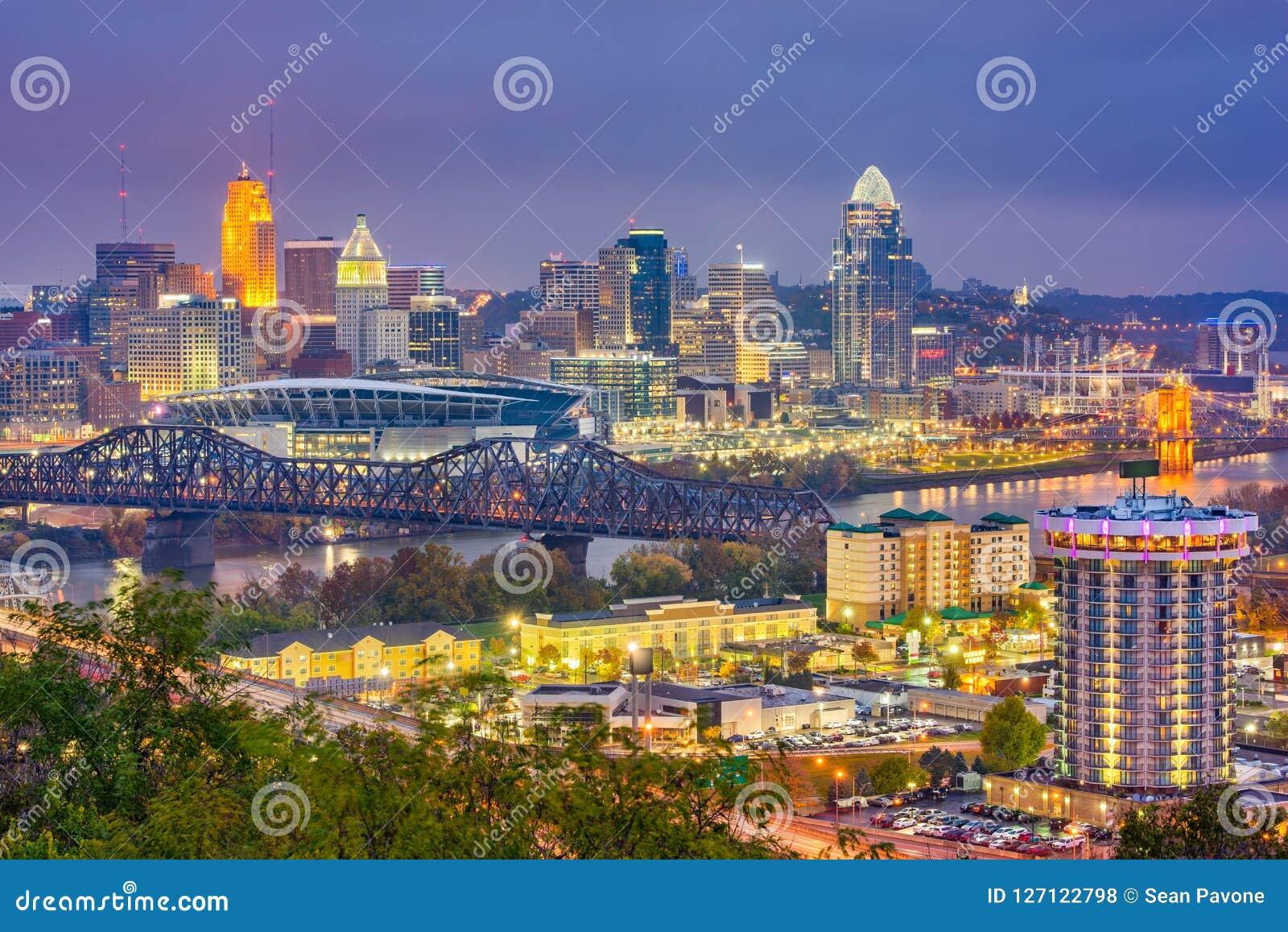 Cincinnati, Ohio, usa linia horyzontu