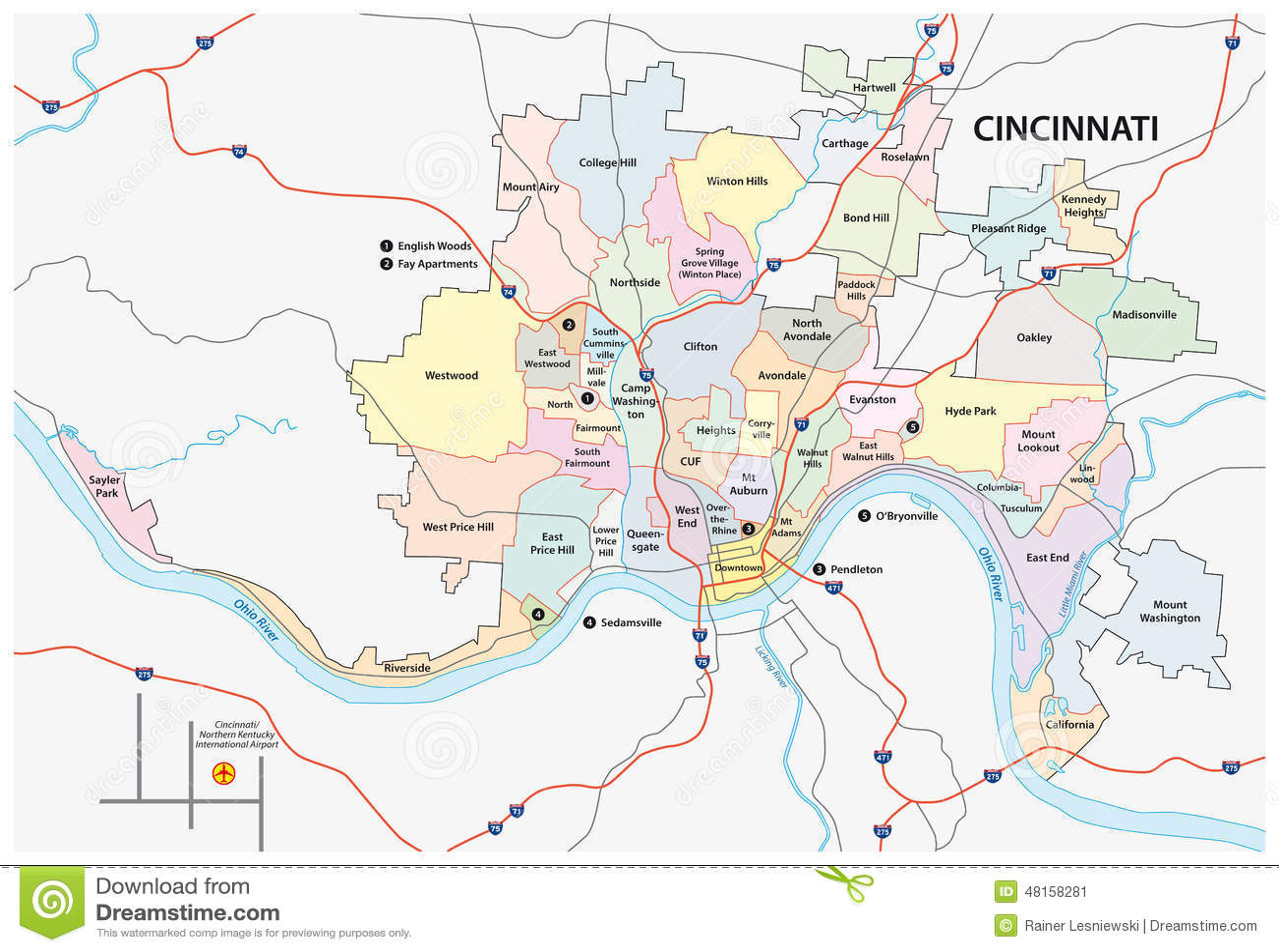 Popular 194 List Map Of Cincinnati Ohio