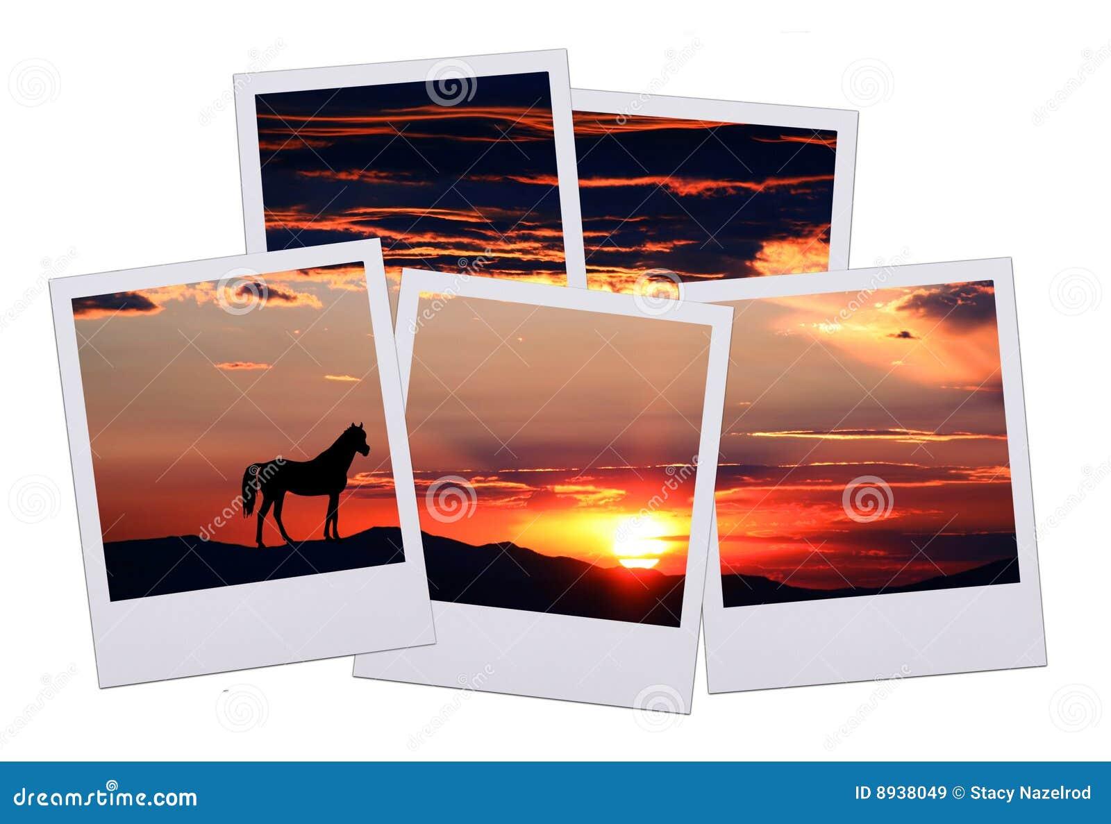 Cinco cuadros de horizonte imagen de archivo. Imagen de marco - 8938049