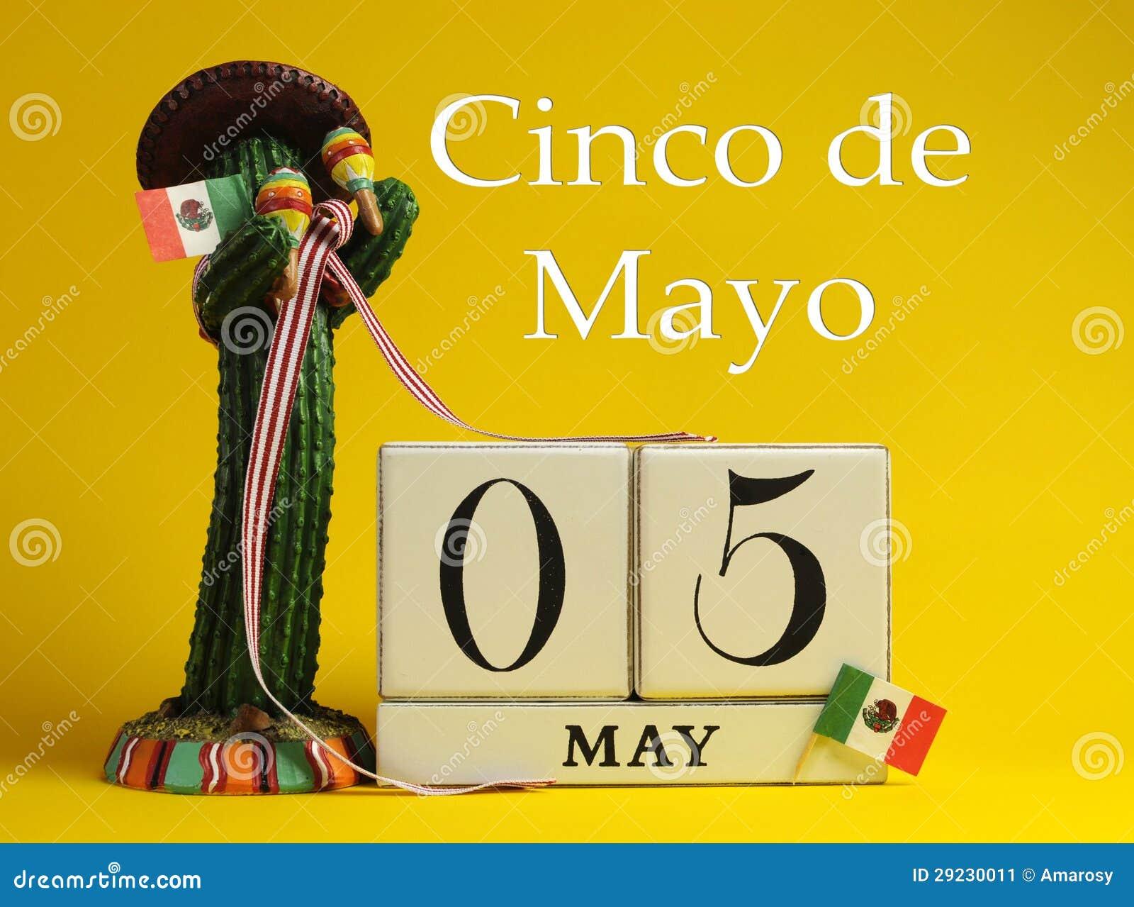 Cinco de May, May 5, calendar