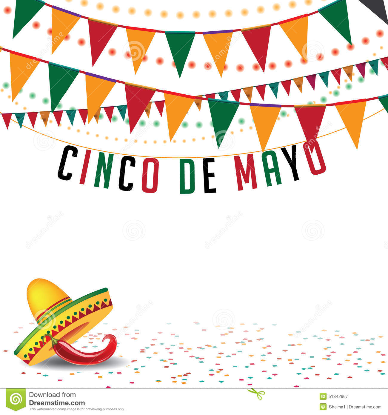 Cinco De Mayo bunting background EPS 10 vector