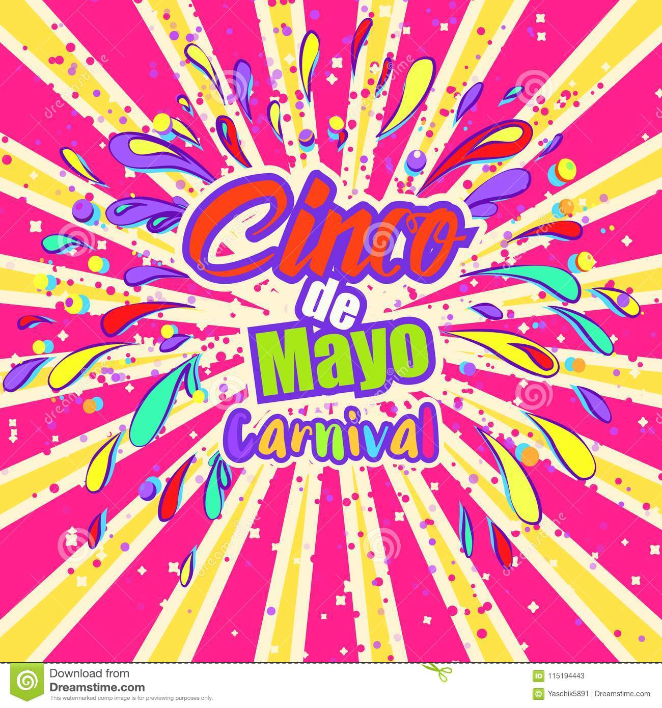 cinco de mayo celebration in mexico design element poster greeting card or brochure template - Mexico Brochure Template