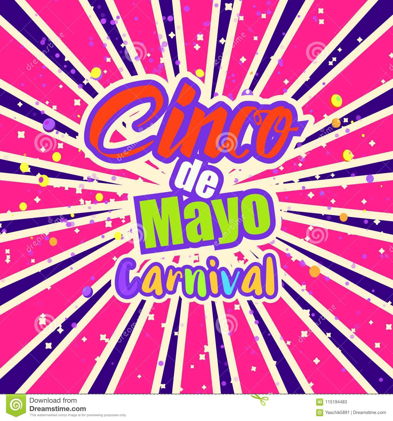 Cinco De Mayo Celebration In Mexico Stock Illustration