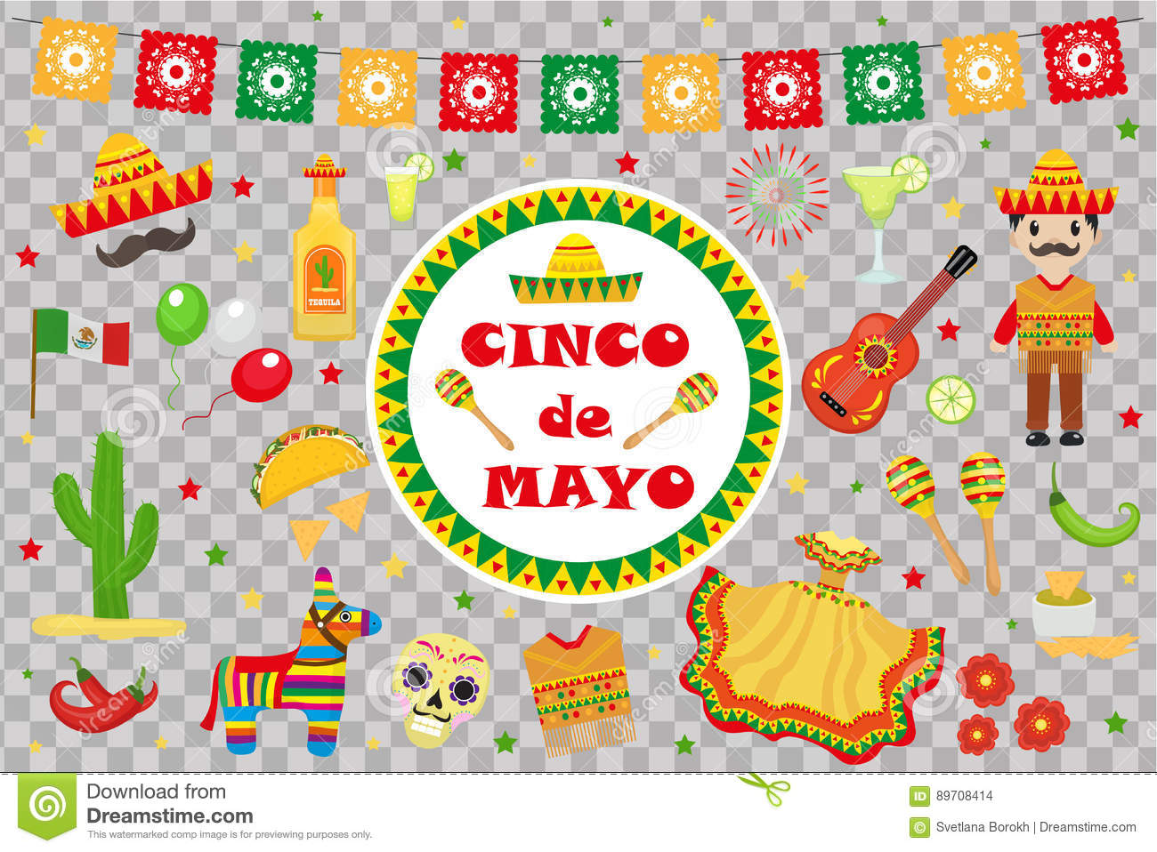 cinco cartoons illustrations vector stock images 4613 pictures to download from. Black Bedroom Furniture Sets. Home Design Ideas