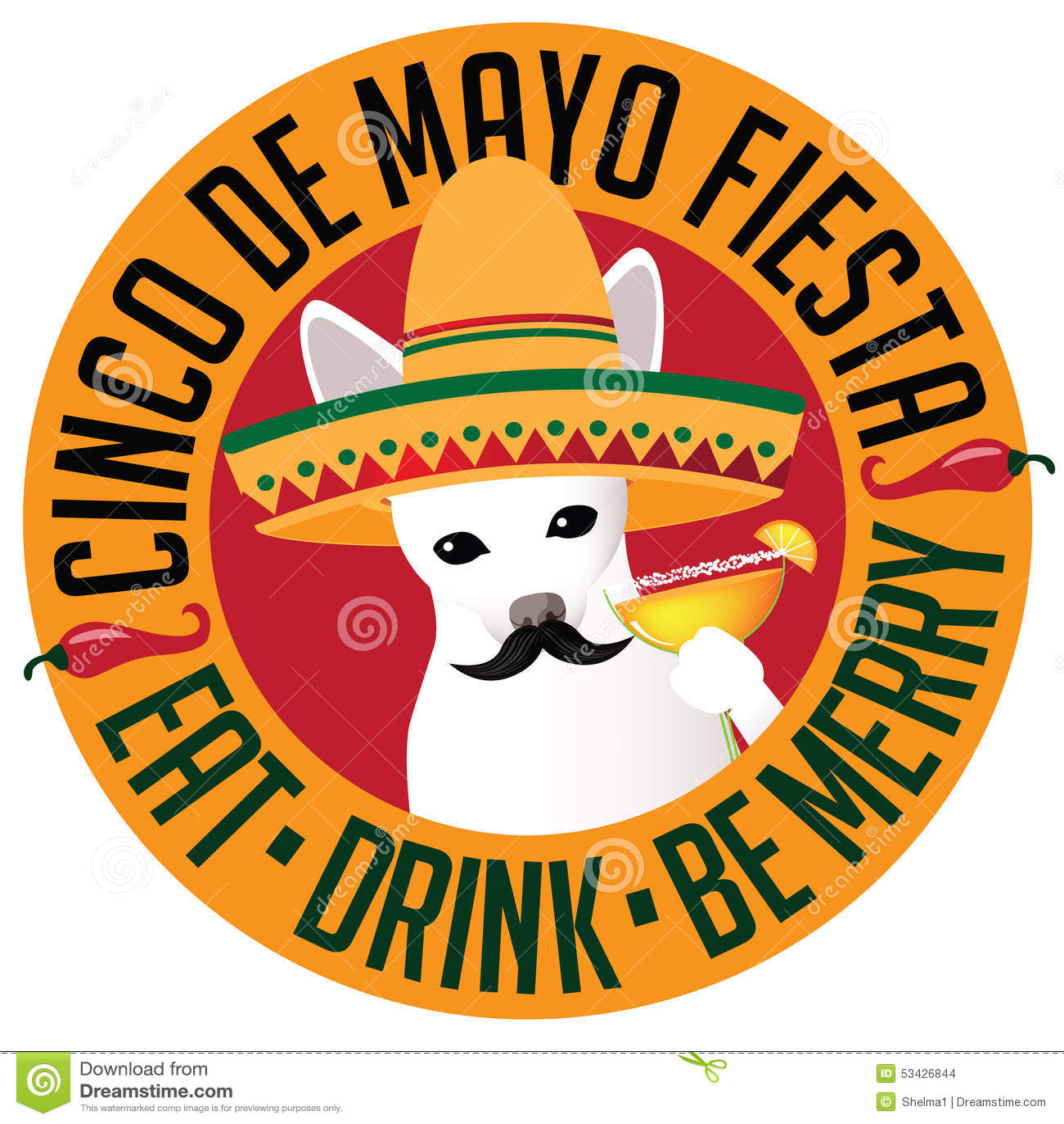Mexican Cinco De Mayo Dog Royalty Free Stock Photography - Image ...
