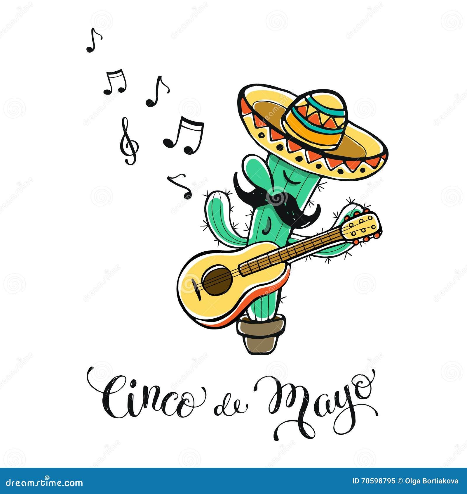 Cinco de Mayo illustration stock vector. Illustration of america ...