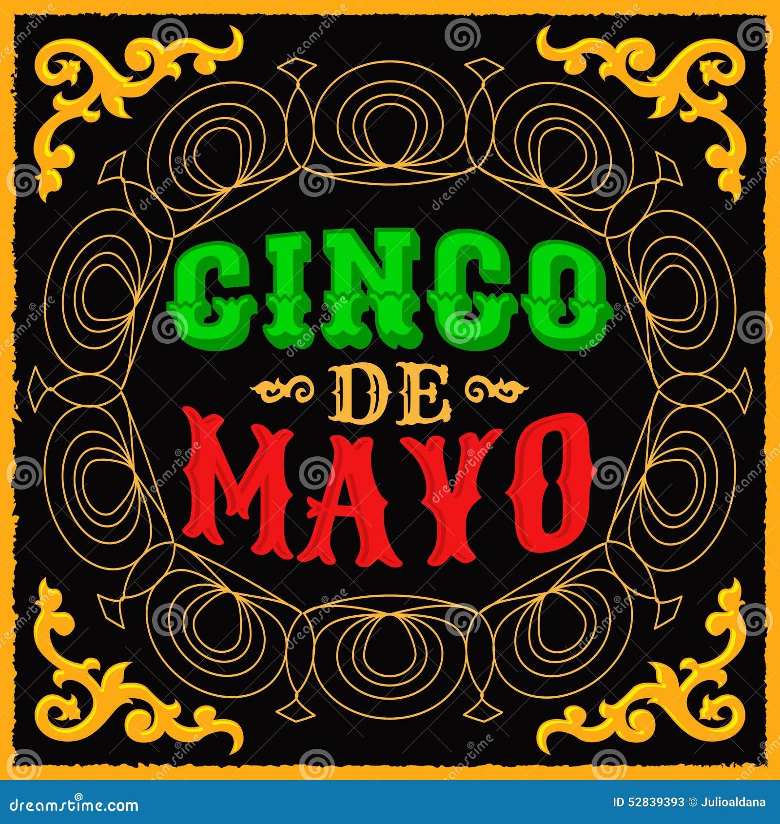 Cinco de Mayo - meksykański tradycyjny wakacyjny projekt
