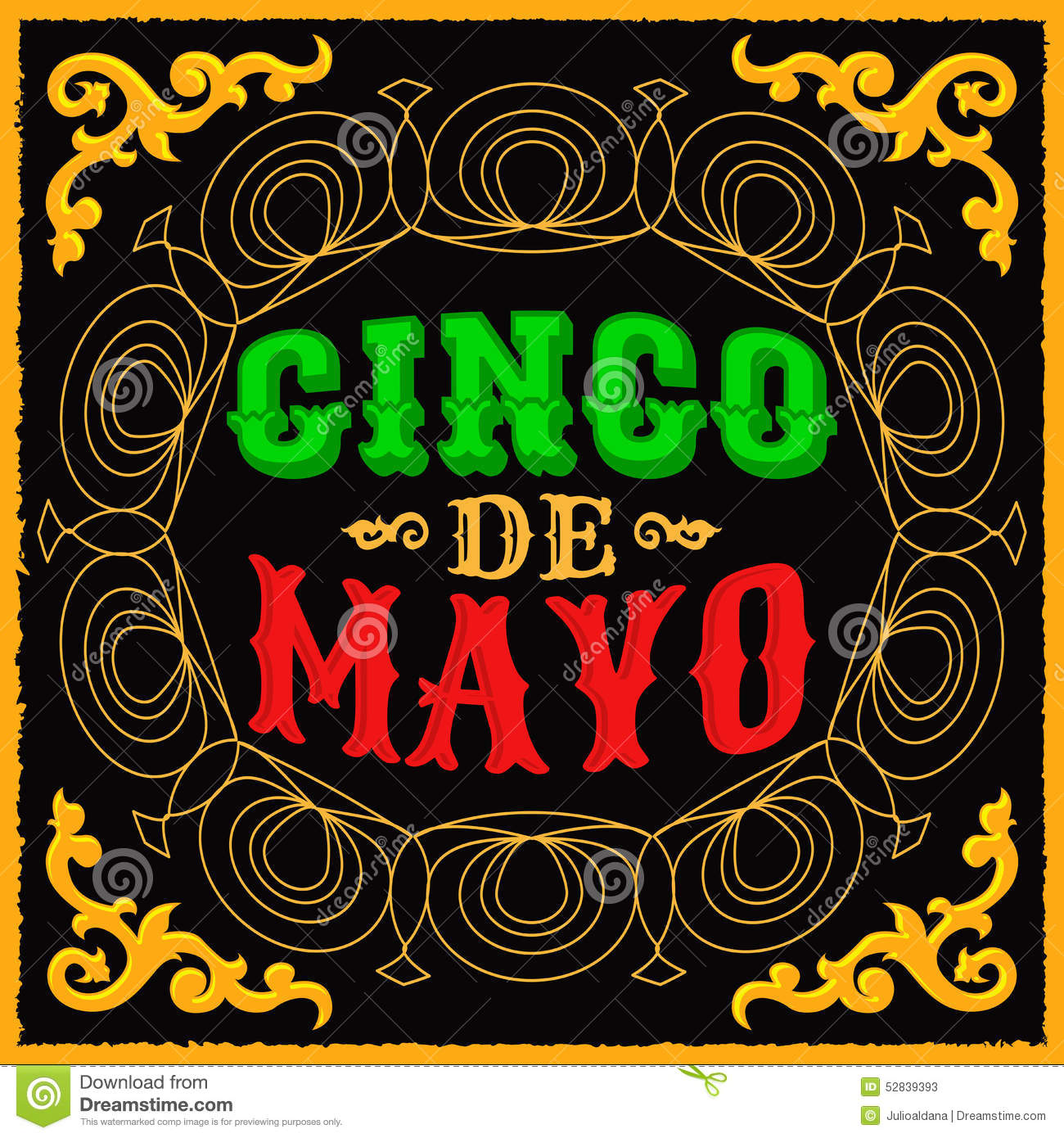 cinco de mayo mexican traditional holiday design stock vector illustration of card. Black Bedroom Furniture Sets. Home Design Ideas
