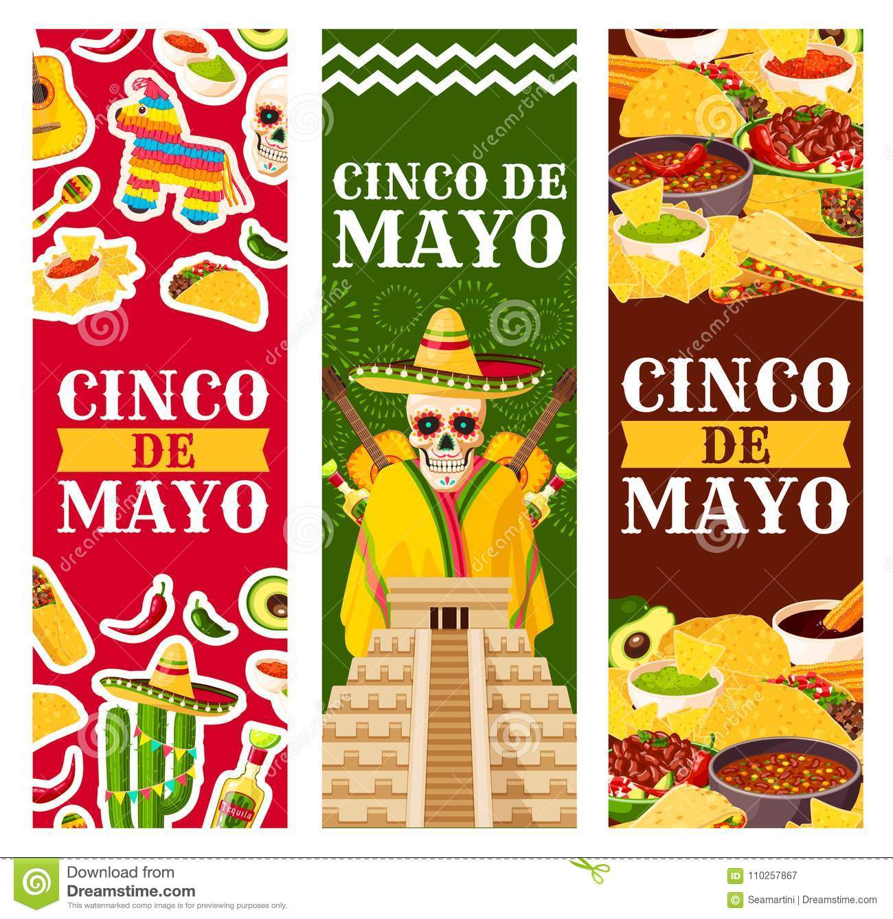 Cinco de mayo mexican vector greeting banners stock vector cinco de mayo mexican vector greeting banners m4hsunfo