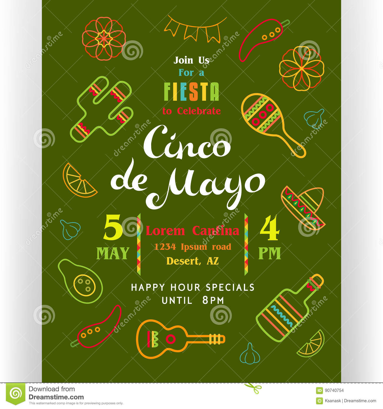 cinco de mayo poster template stock vector illustration of