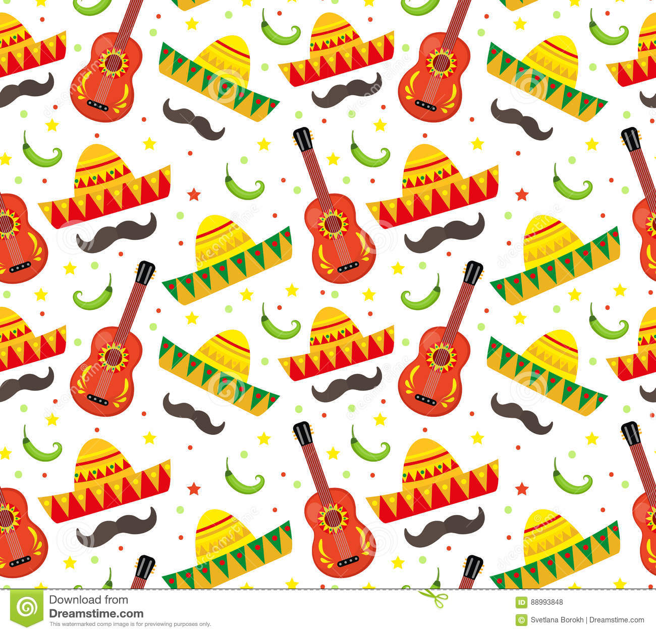 Cinco de mayo vector seamless pattern stock vector illustration cinco de mayo seamless pattern mexican holiday endless background texture vector illustration kristyandbryce Gallery