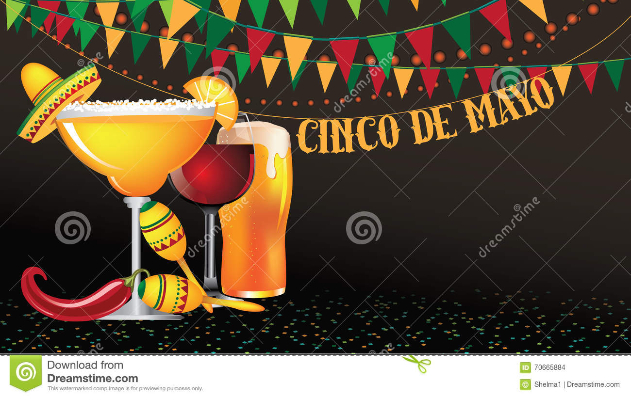 Cinco De Mayo widescreen bunting background.