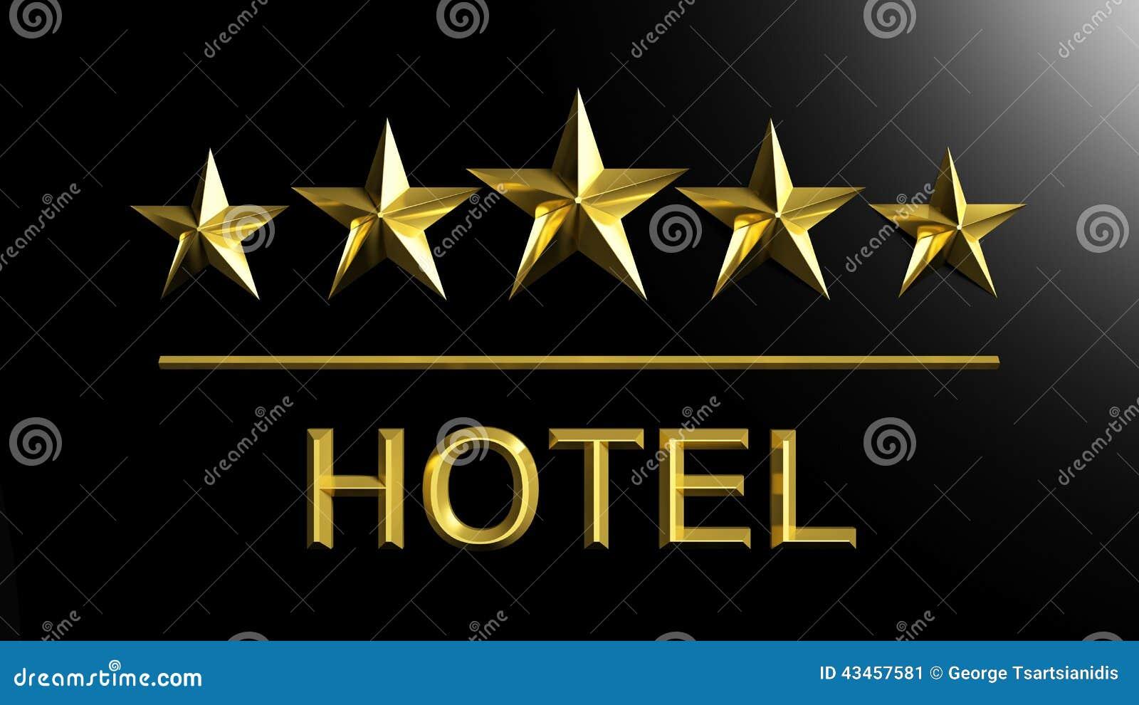 Cinco estrellas de oro y hotel de la palabra stock de - Hotel de cinco estrellas ...