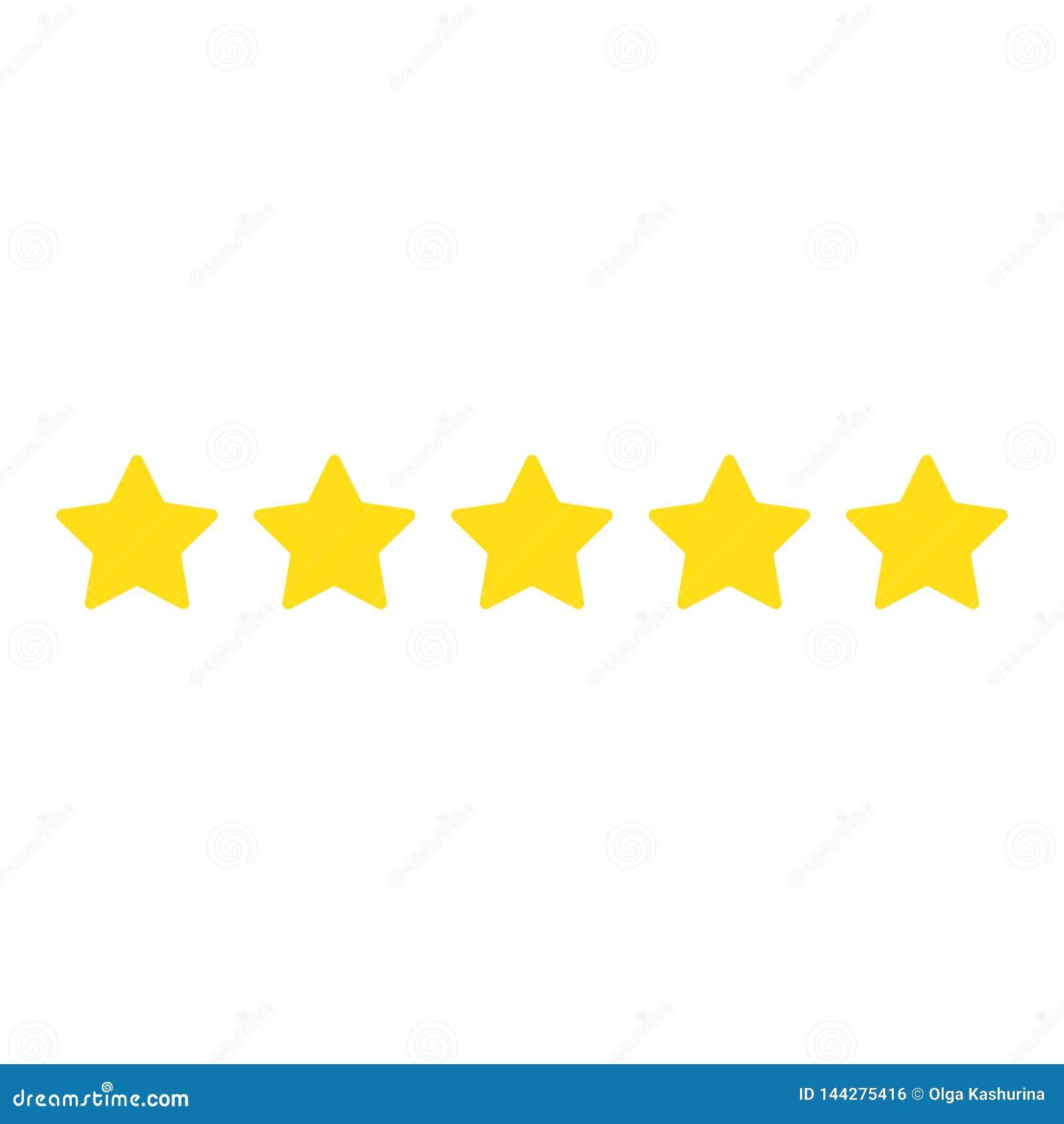 Cinco estrellas Muestra de la calidad Ilustraci?n del vector