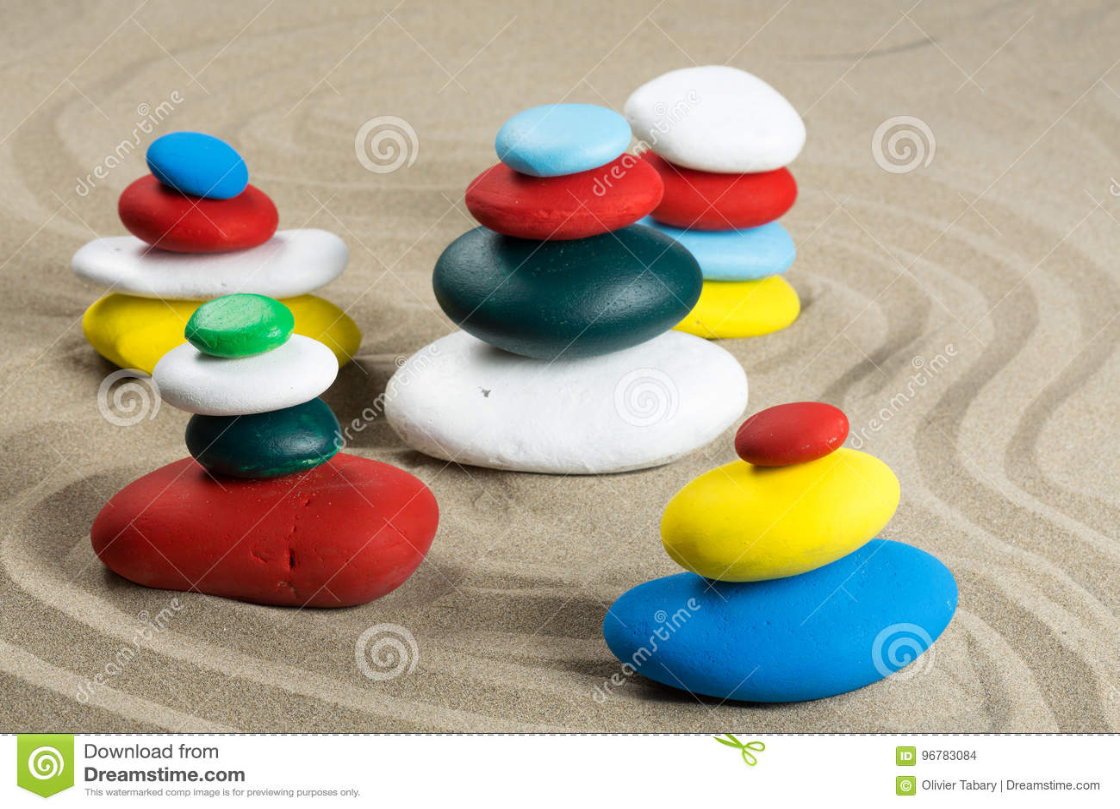 Cinco kerns multicolores