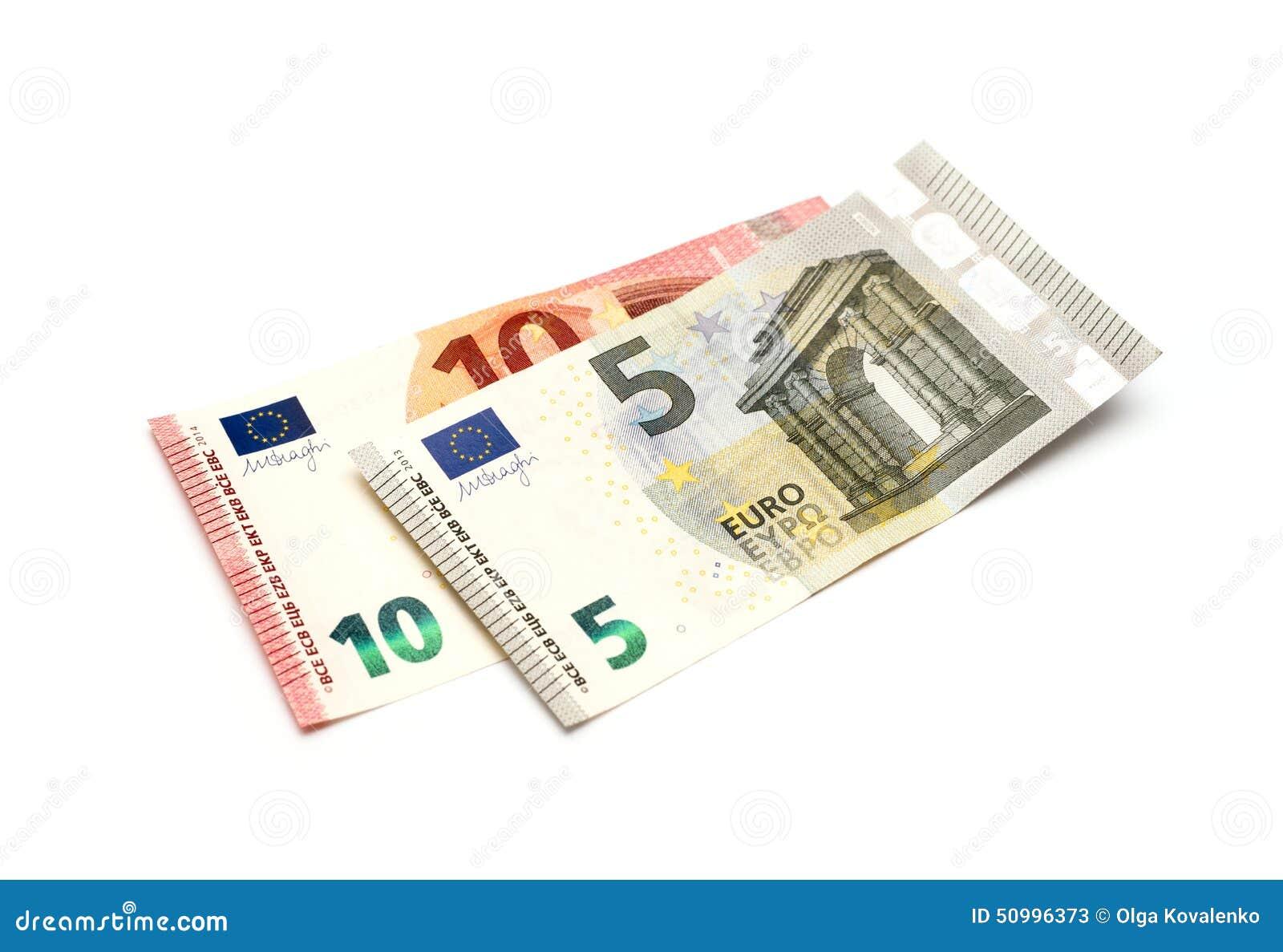 Cinco y diez euros