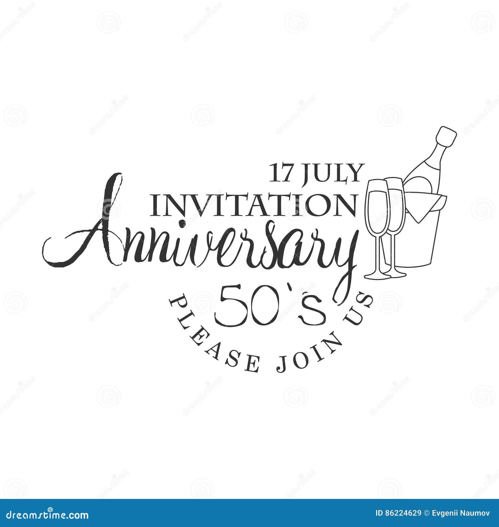Cincuenta Años De La Fiesta De Aniversario De La Invitación