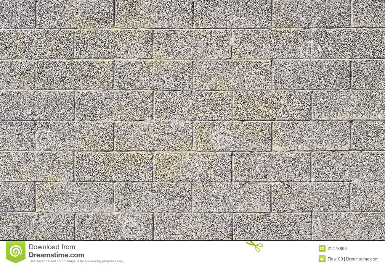 Cinder Block Wall Background Stock Photo Image 31478690