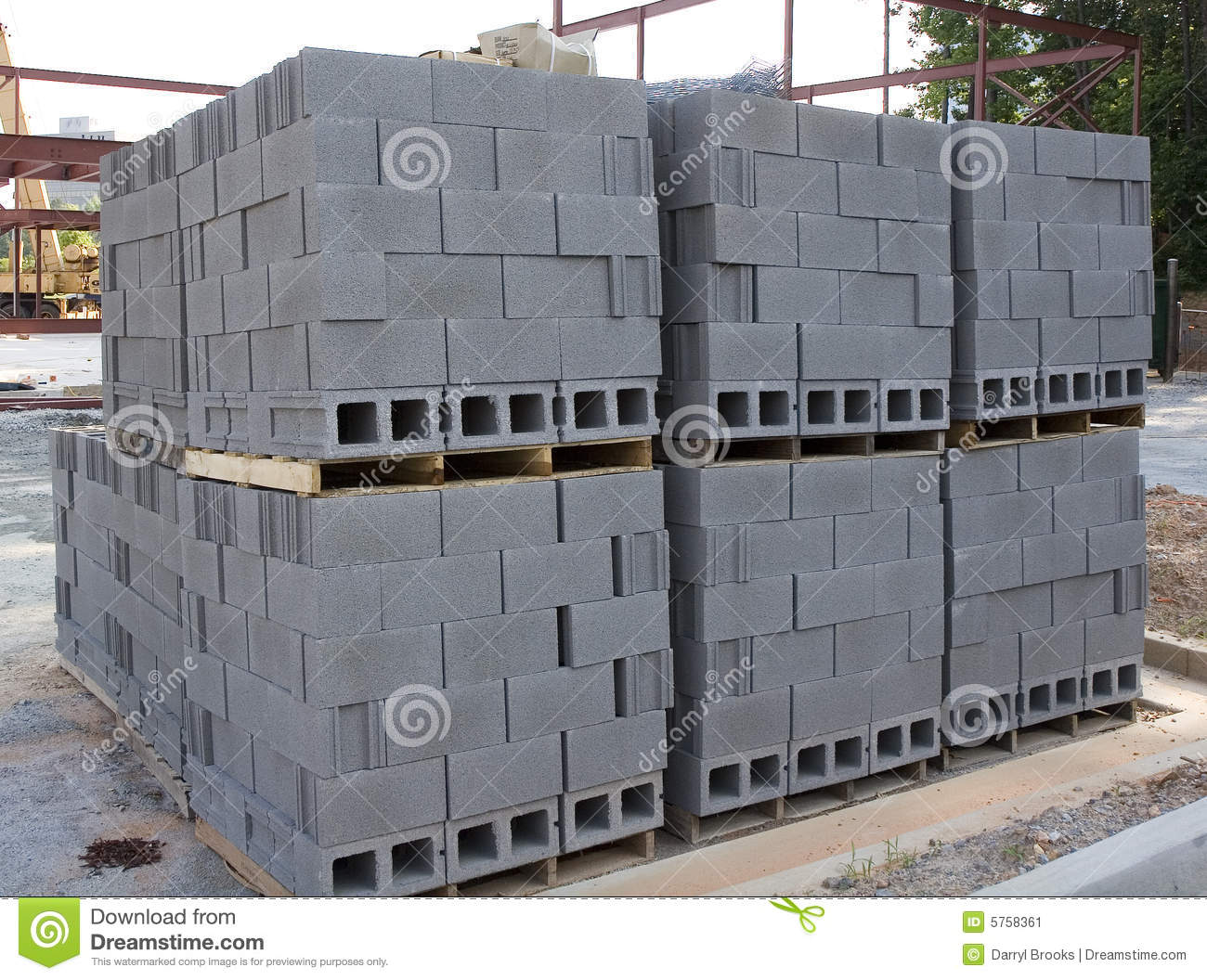 Stack Of Cinder Blocks Royalty Free Stock Photo
