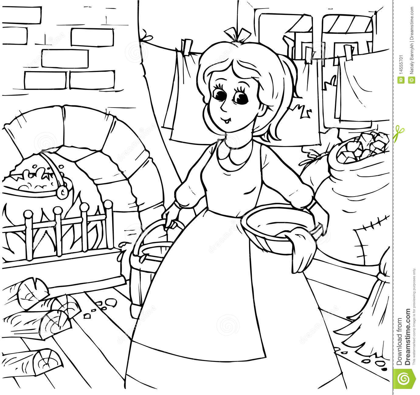 fireside girls coloring pages | Cinderella Stock Image - Image: 14555701