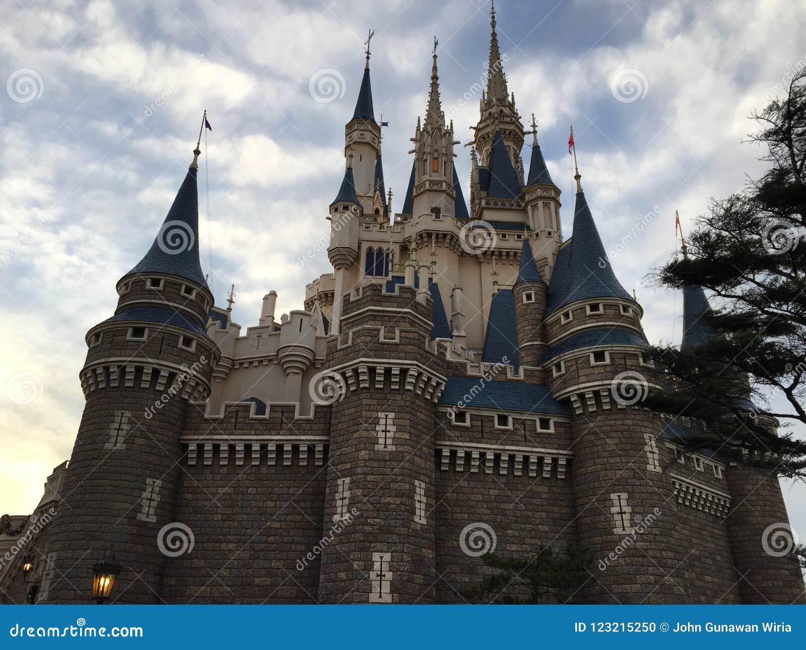 Cinderella Castle Nice View At Tokyo Disneyland Editorial Image