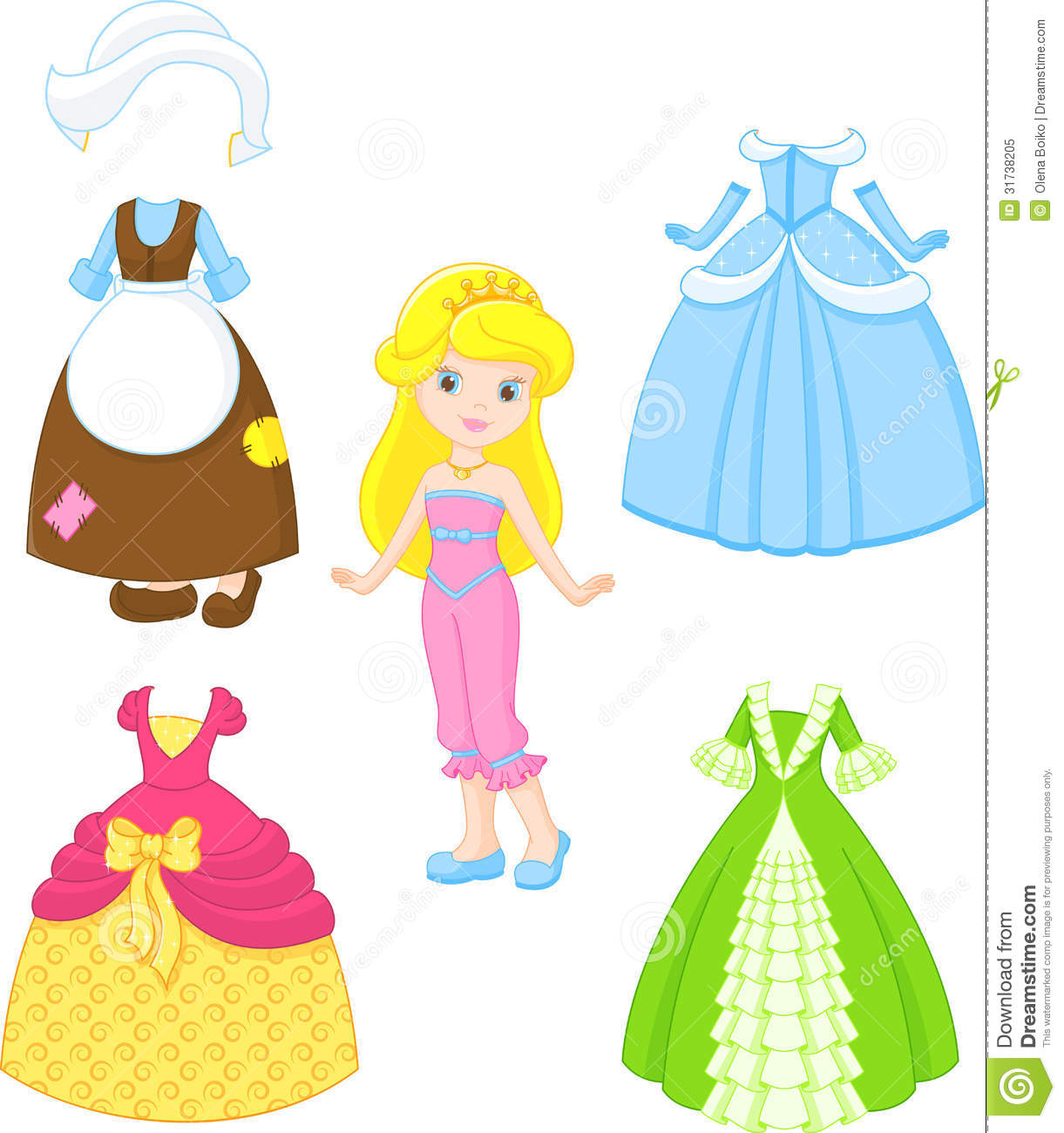 Cinderella Dresses Stock Vector Image Of Isolated Dress