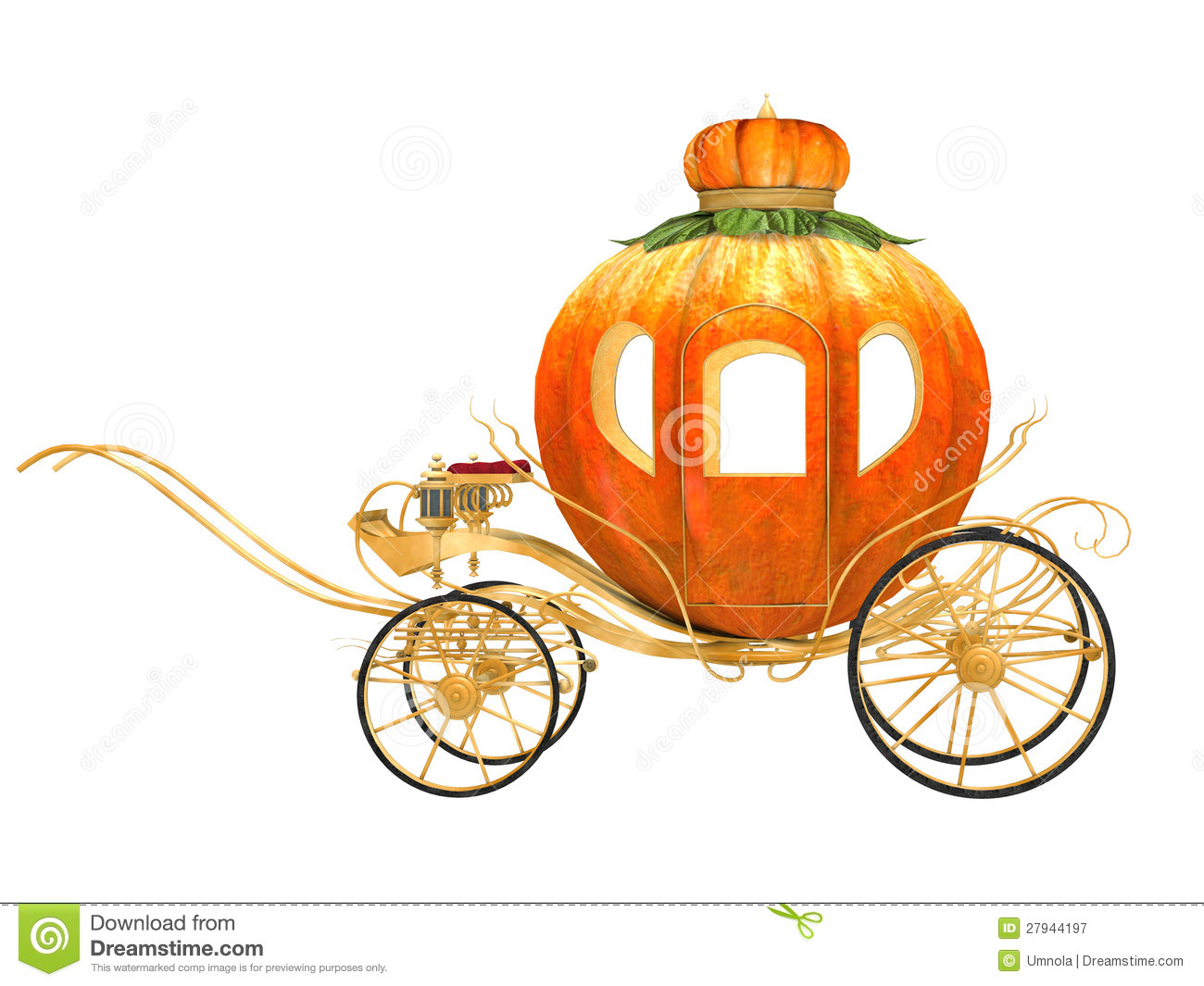 Pumpkin Carriage Cake