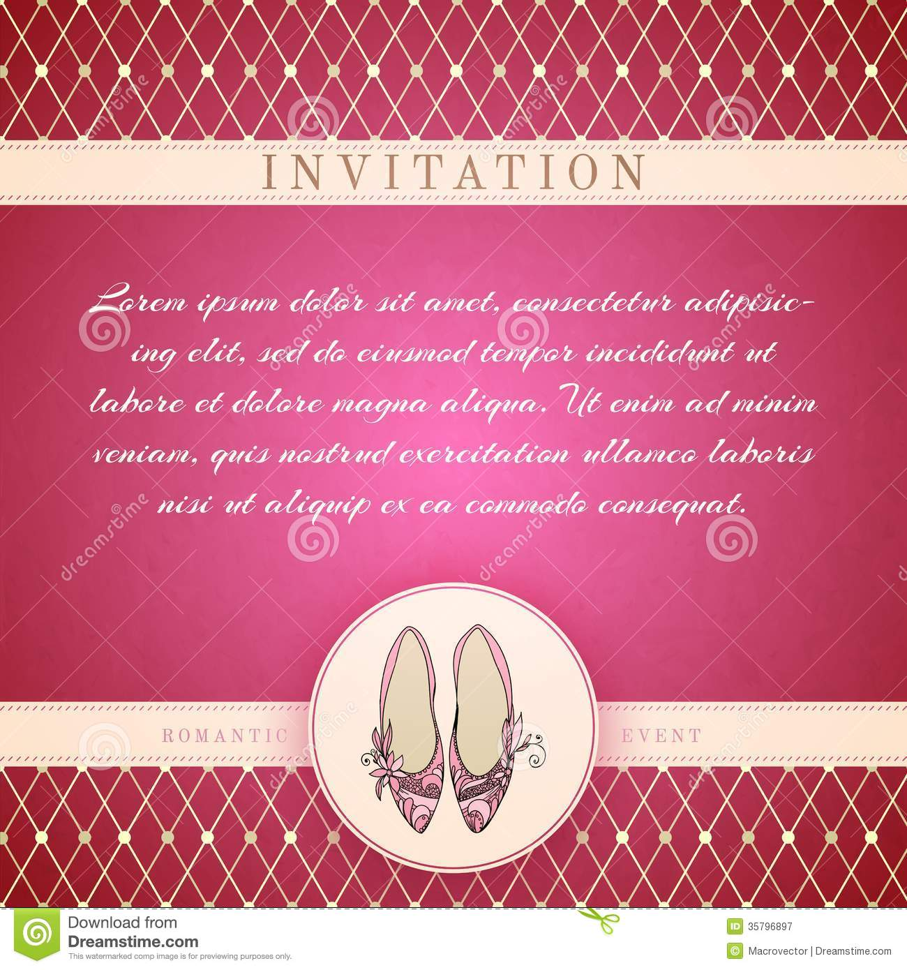 Cinderella princess invitation template royalty free stock for Princess trust business plan template