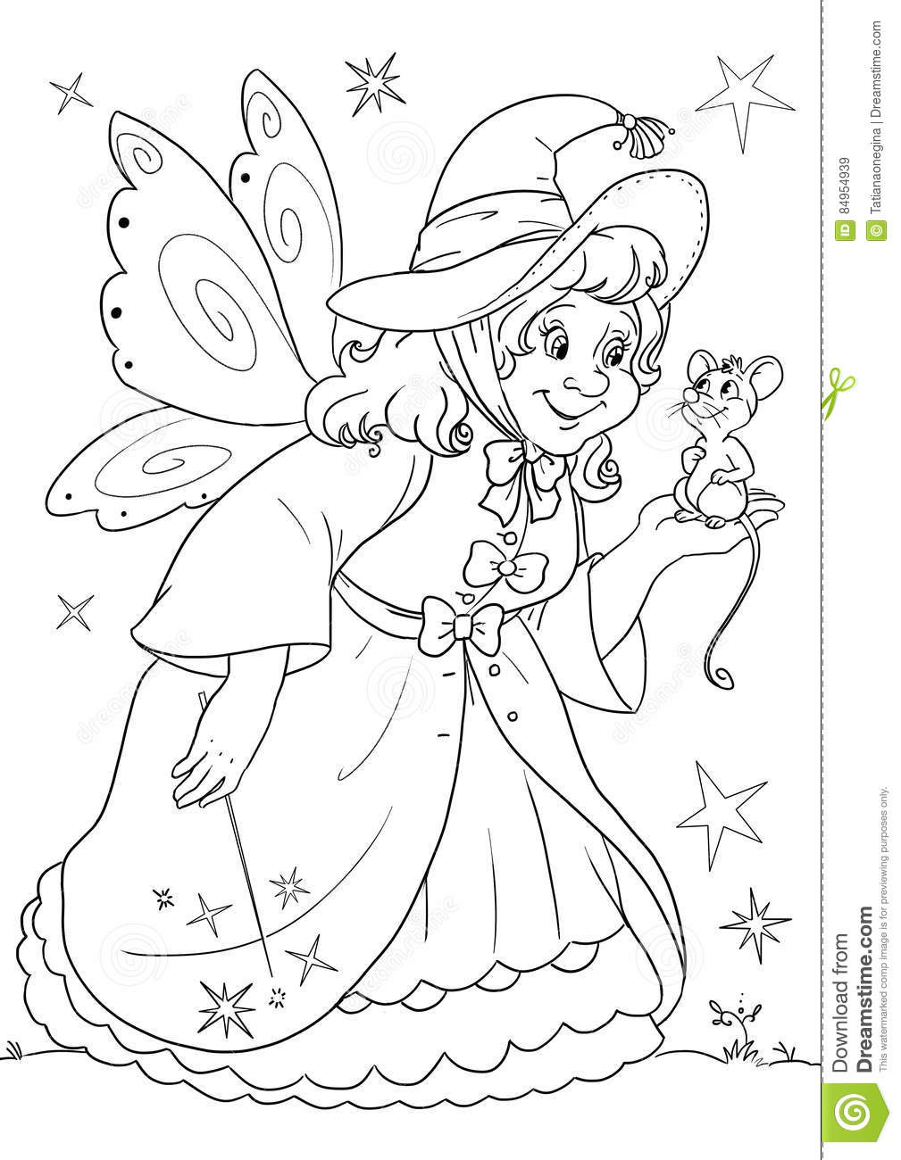Cinderella and Her Fairy Godmother Coloring Page | Woo! Jr. Kids ... | 1300x1009