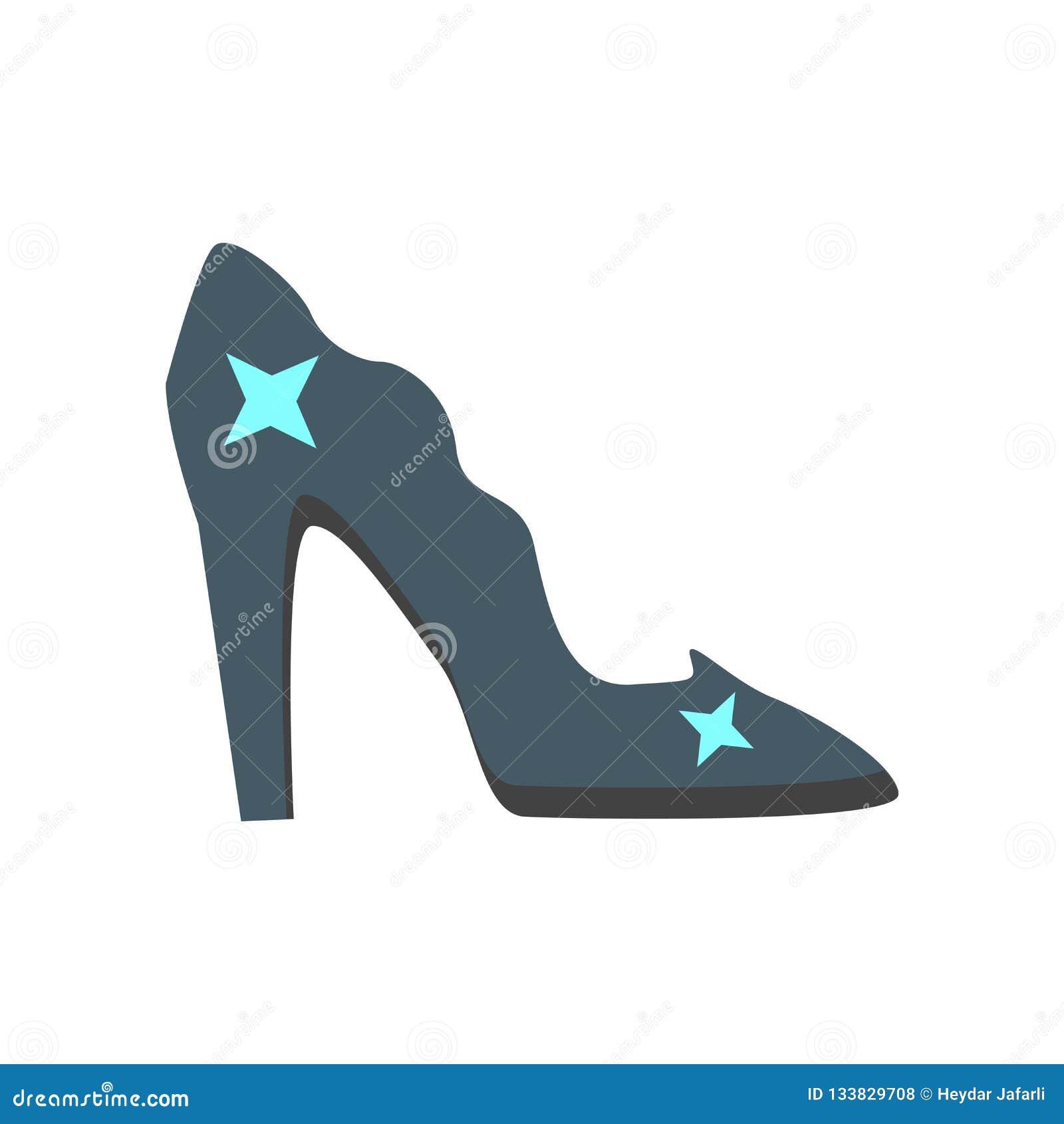 Cinderella Dresses Stock Vector Illustration Of Isolated: Cinderella Shoe Icon Vector Isolated On White Background