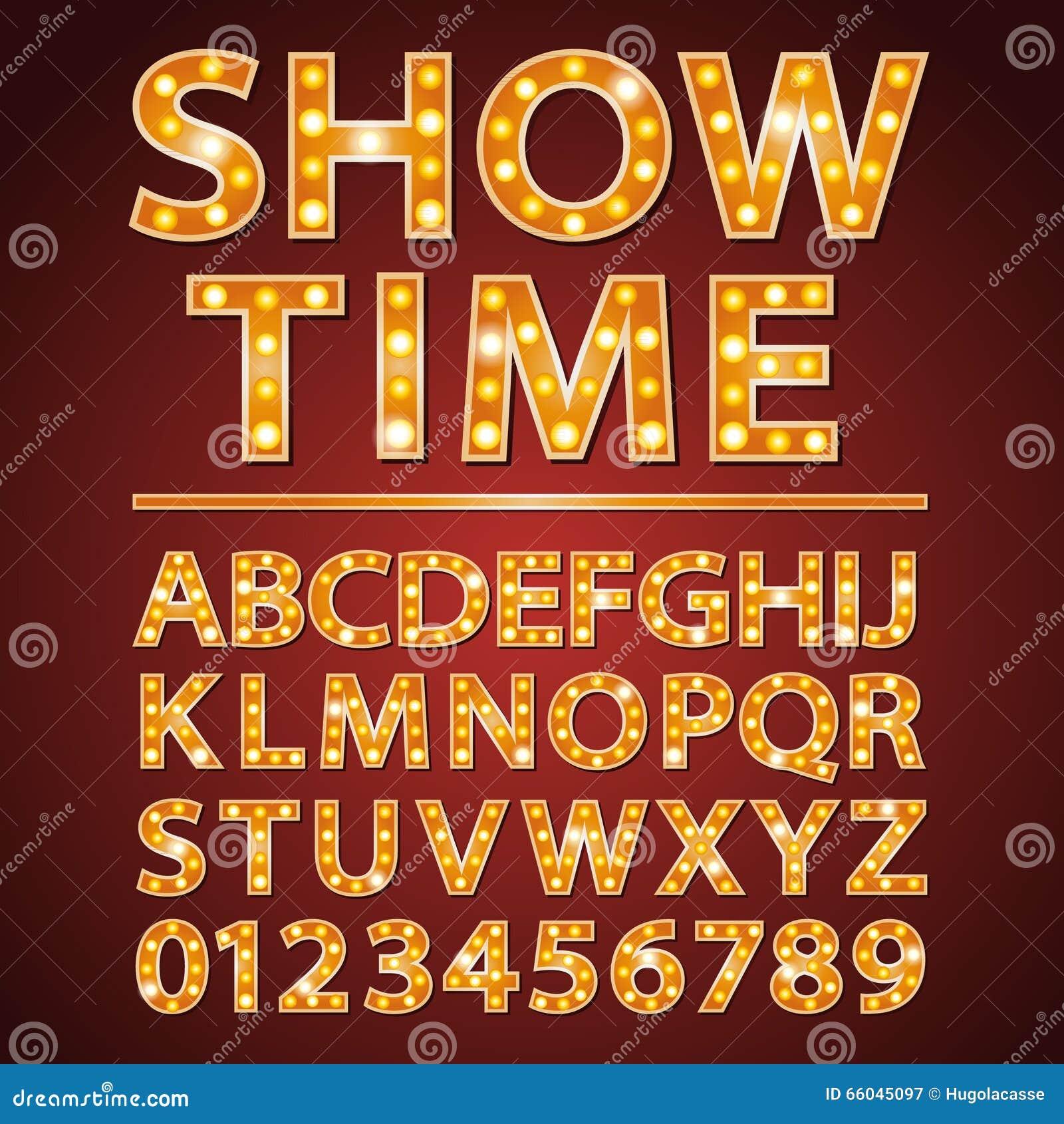 Cine o teatro anaranjado de la demostración de la fuente de las letras de la lámpara de neón del vector