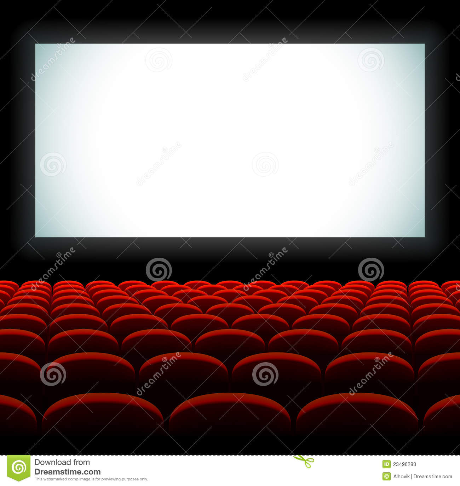 Cinema Auditorium With Screen And Seats Stock Photos Image 23496283