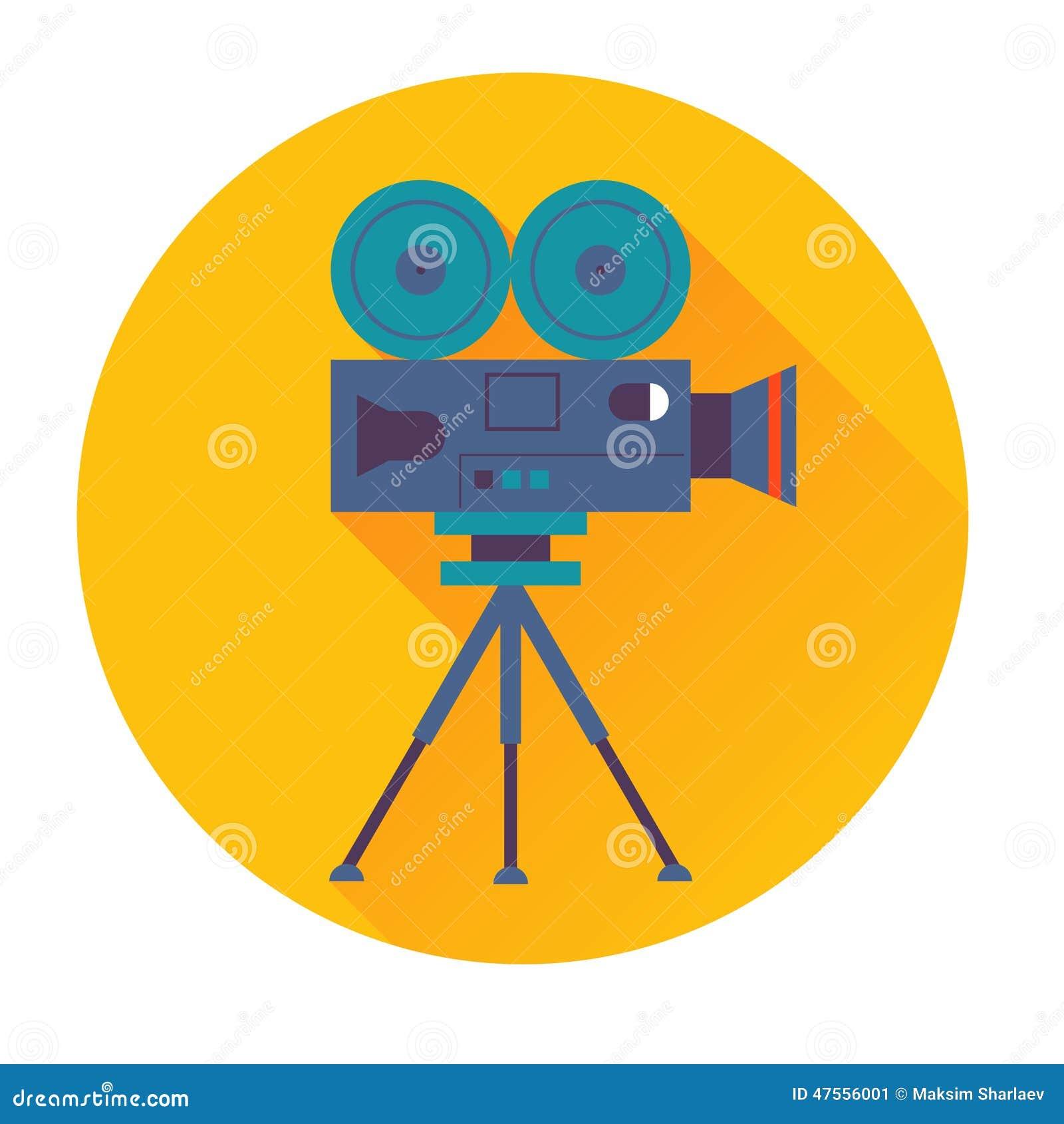 Cinema Camera Icon Stock Vector Illustration Of Lens 47556001