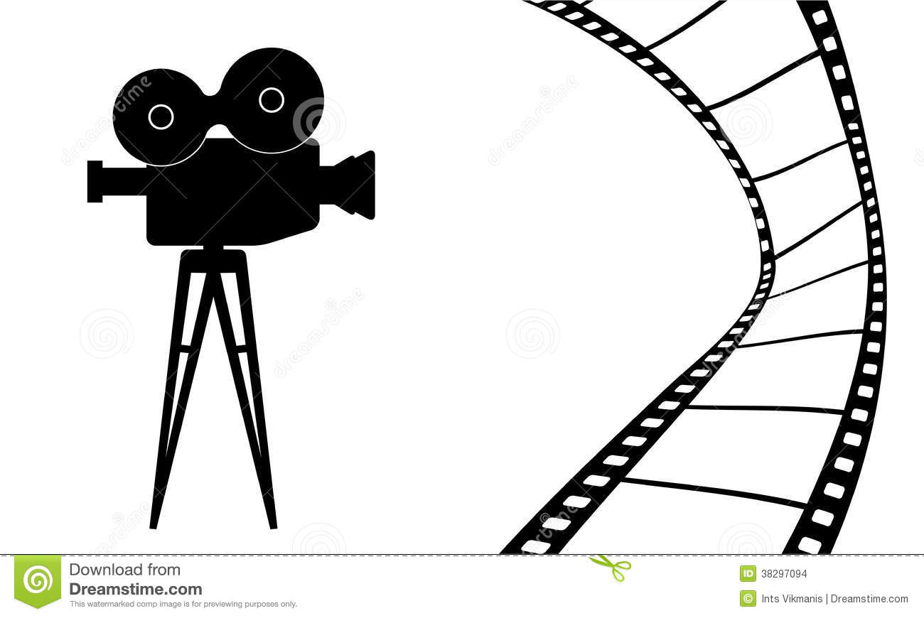 Cinema Camera And Movie Vector Illustration Stock Images - Image ...