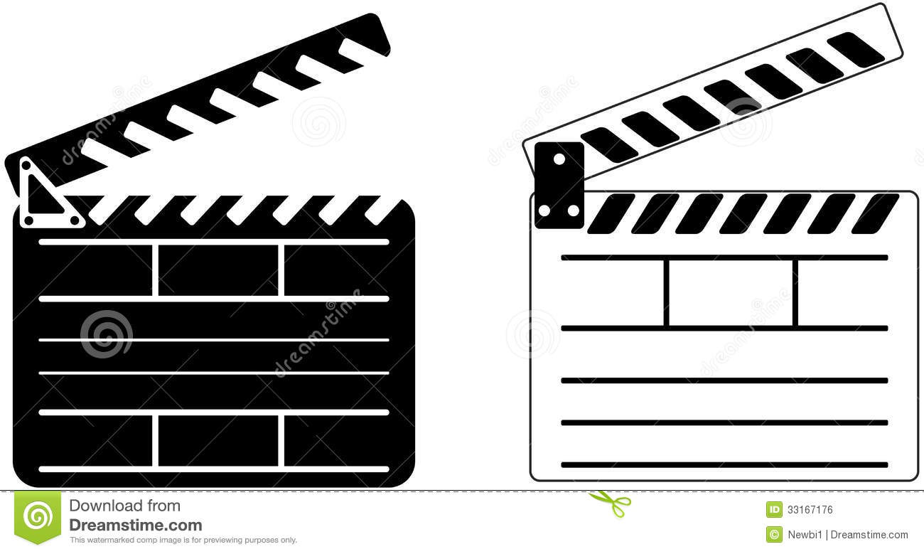 Cinema Clapper - Vector Royalty Free Stock Image - Image: 33167176