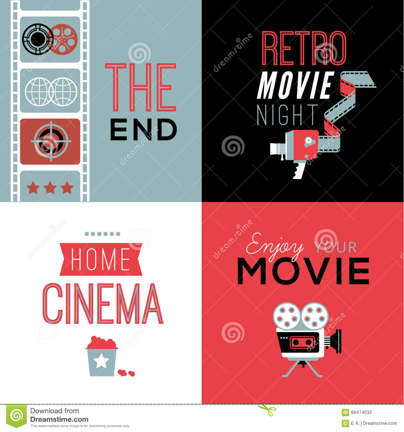 Cinema compositions with text