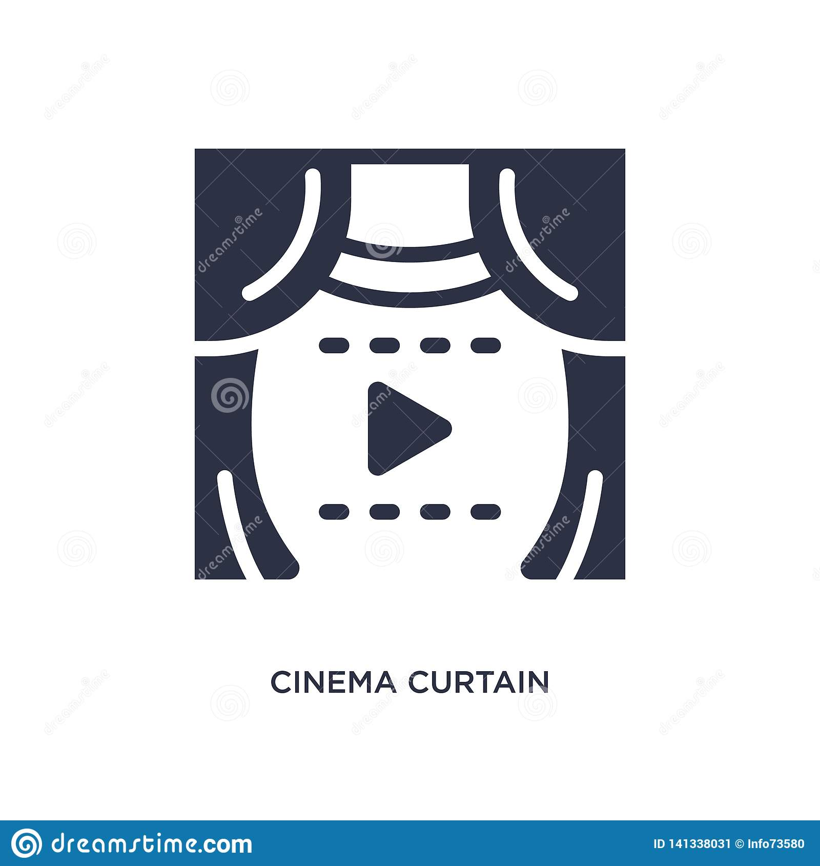 cinema curtain icon on white background. Simple element illustration from cinema concept