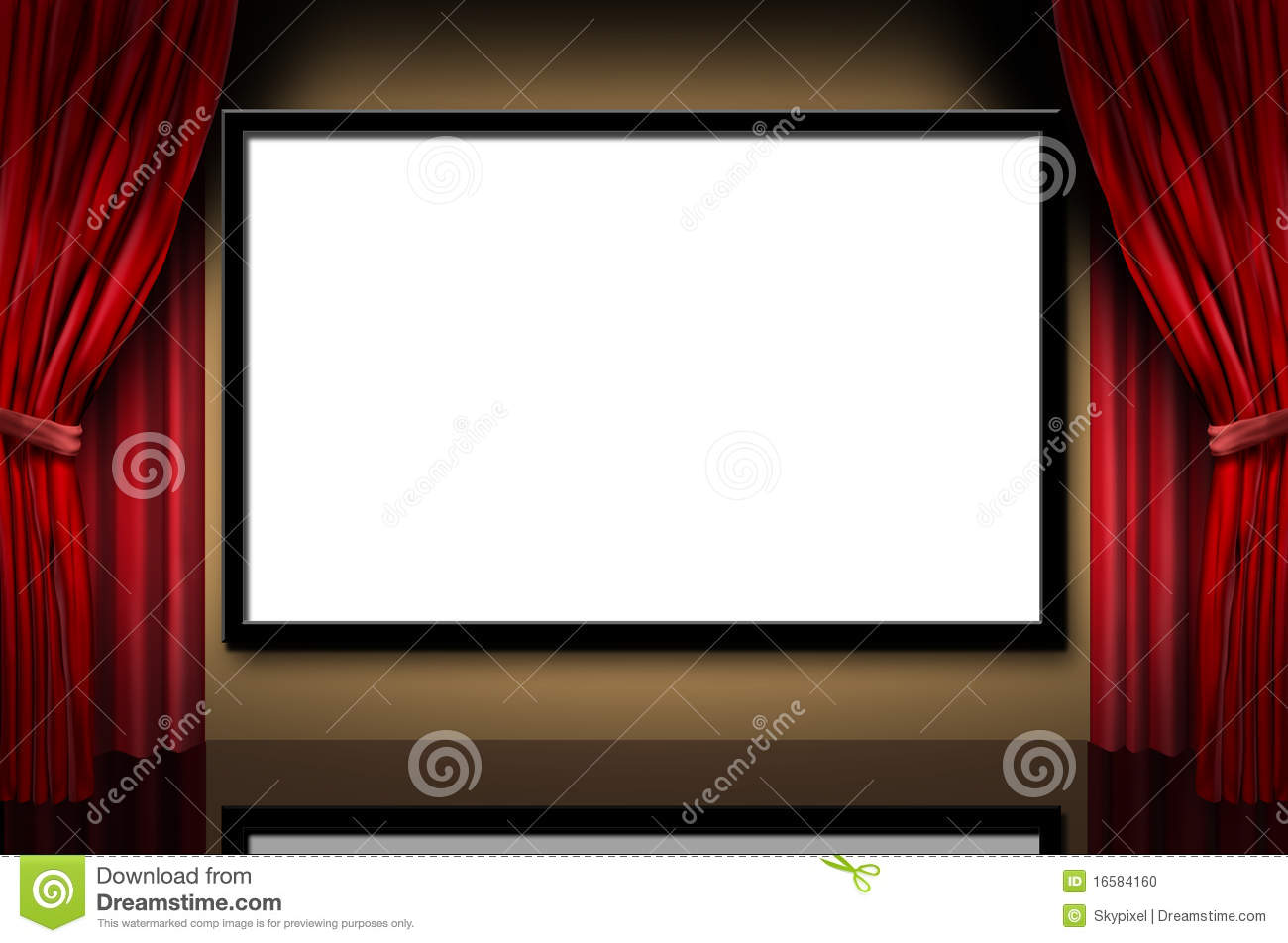 cinema display stage movies opening night theater stock illustration