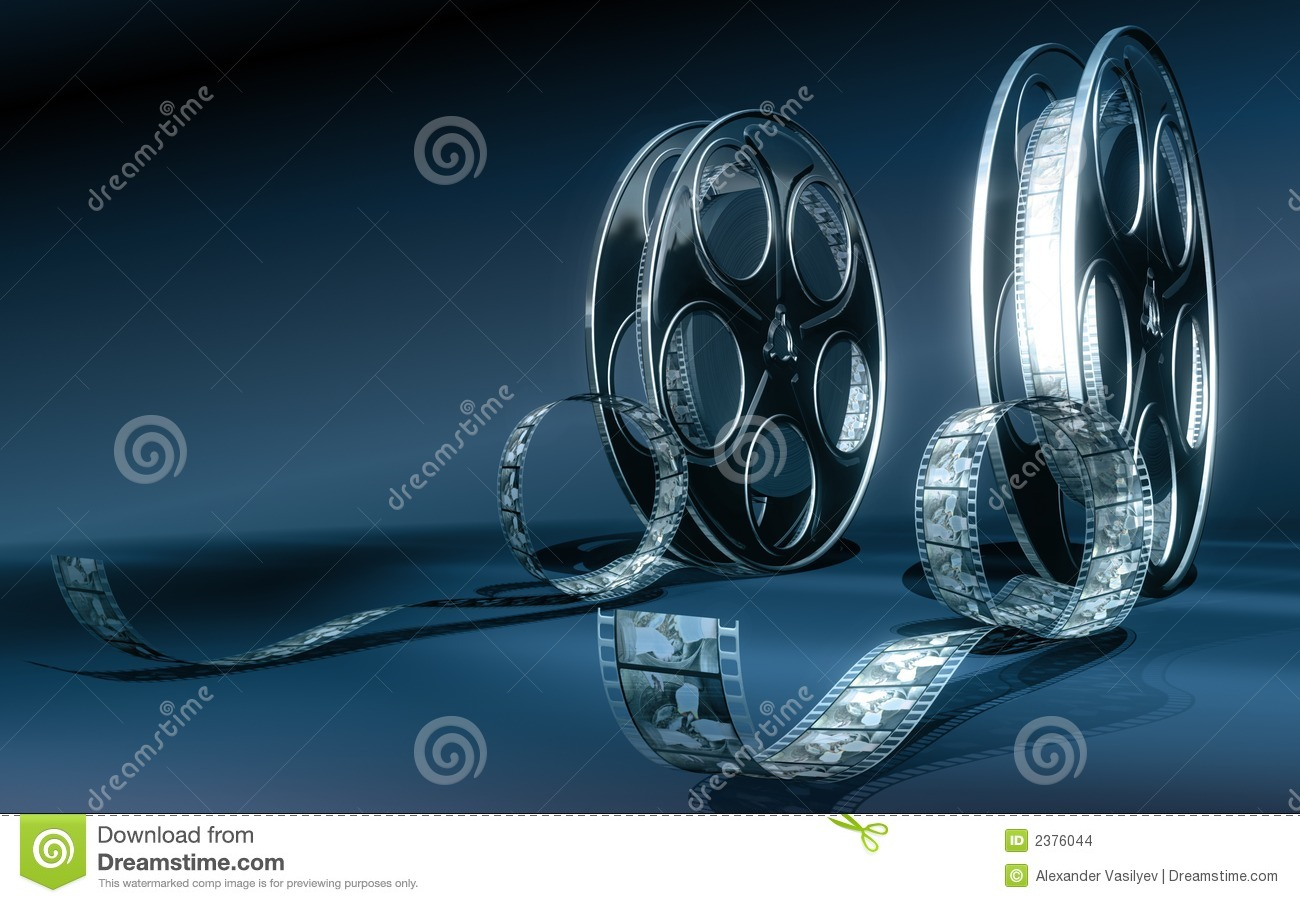 Download Cinema film stock photo. Image of films, blue, entertainment - 2376044