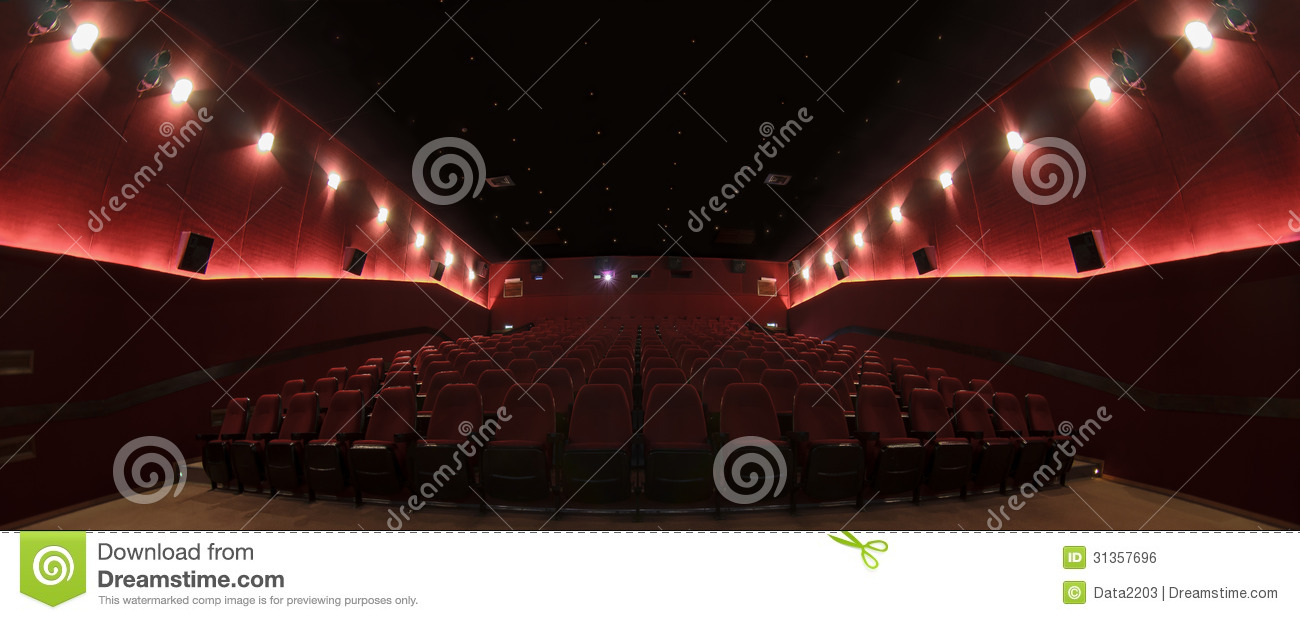 In a cinema hall