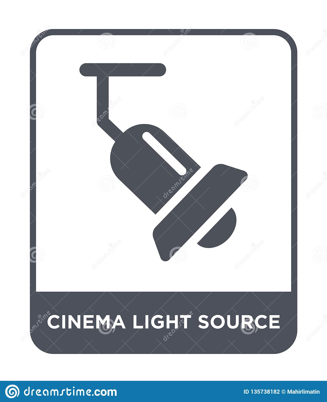 cinema light source icon in trendy design style. cinema light source icon isolated on white background. cinema light source vector