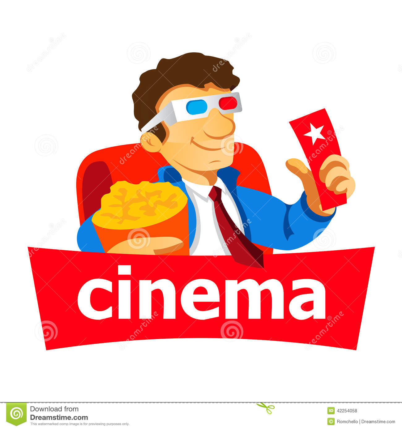 Cinema man logo stock illustration. Image of cartoon ...